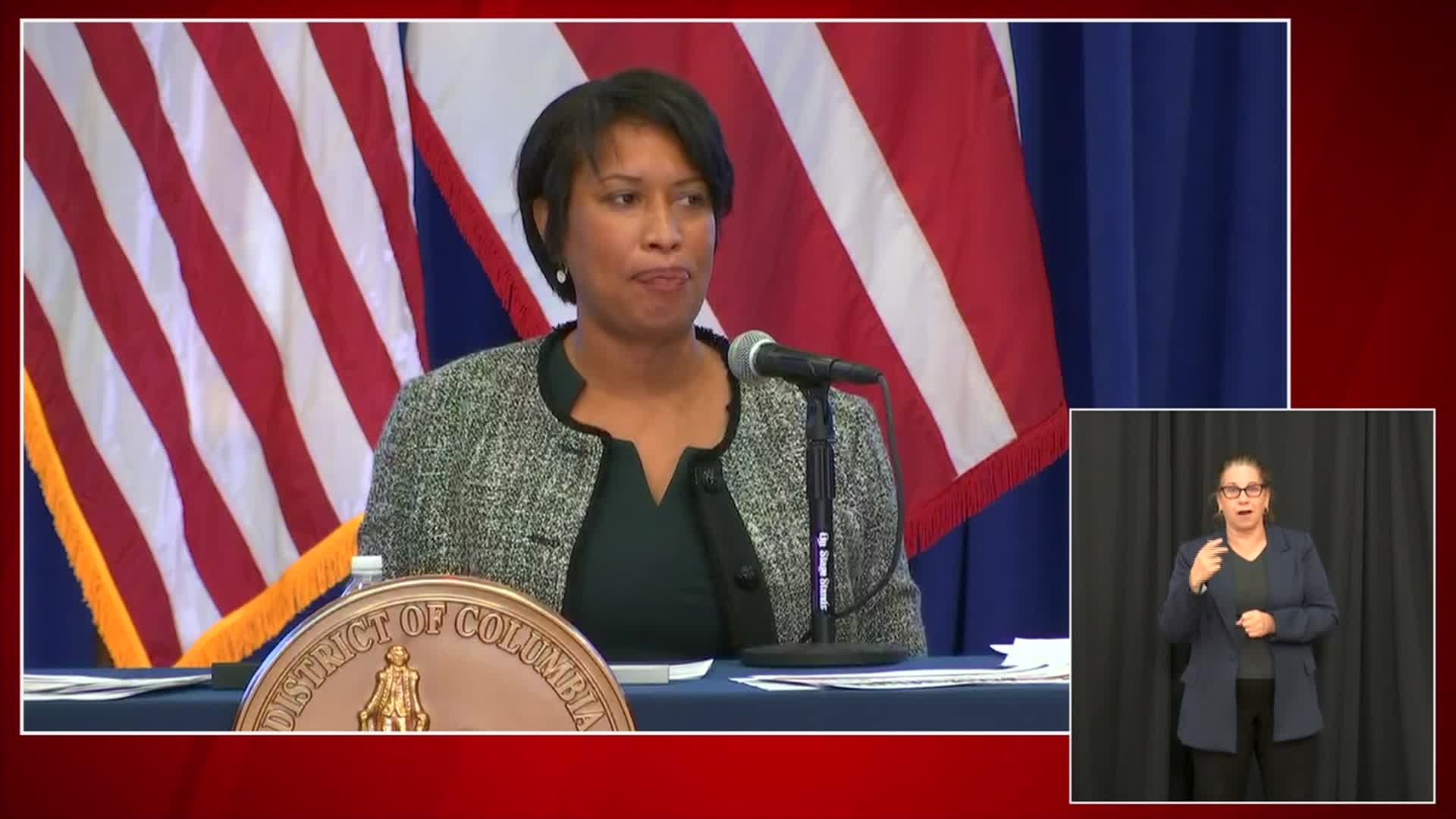 Washington, DC, Mayor Muriel Bowser speaks at a briefing on Wednesday, June 17.
