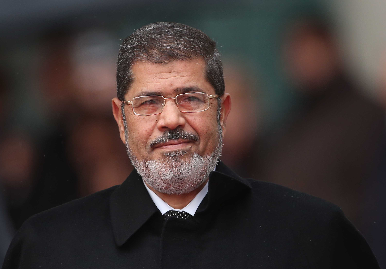 Former Egyptian President Mohamed Morsy pictured in Berlin, Germany, in January 2013.