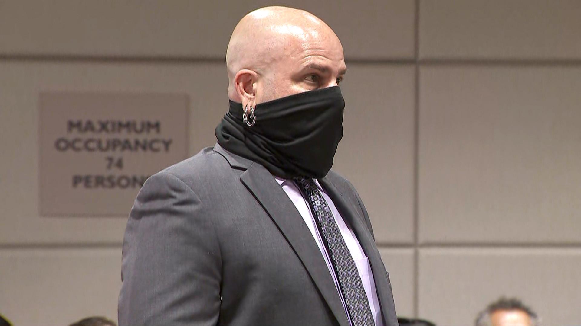 Sareb Kaufman reads a statement at Robert Durst's sentencing on Thursday.