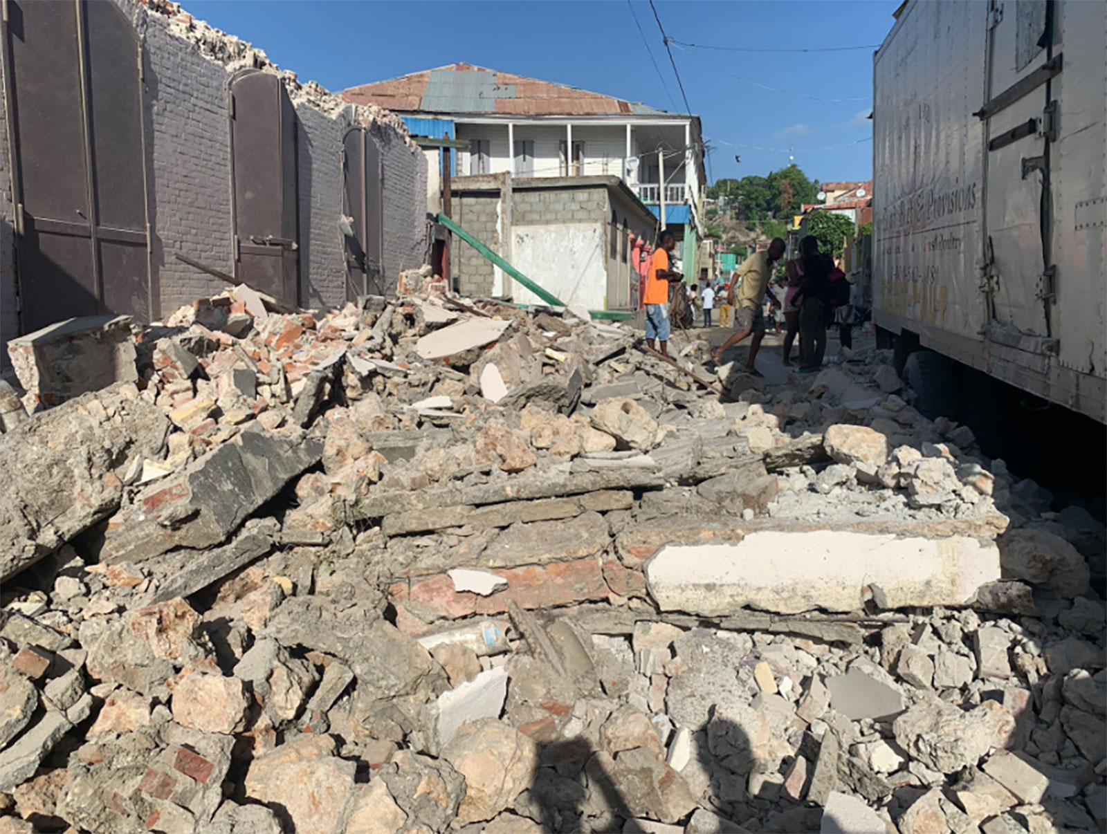 Rubble in Les Cayes, Haiti, is seen on August 14.