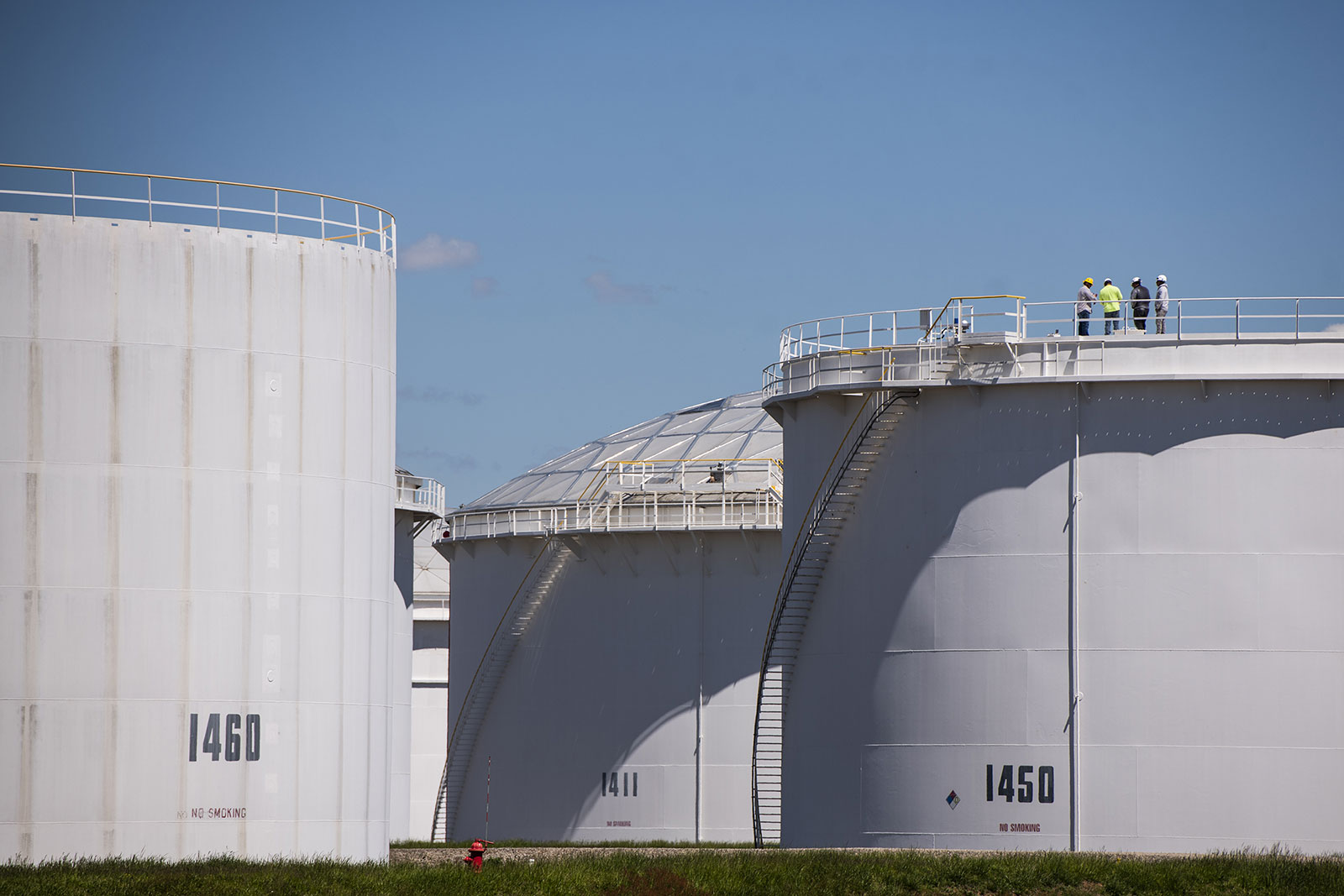 Storage tanks are seen at a Colonial Pipeline facility in New Jersey on May 12.