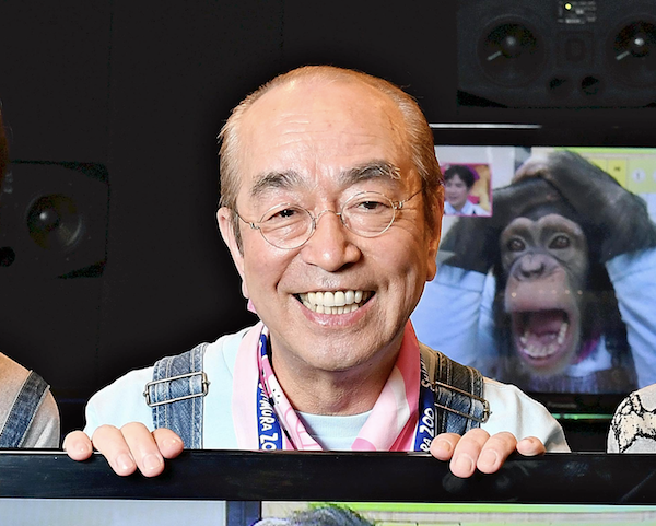 Japanese comedian Ken Shimura poses for a photo in Tokyo.