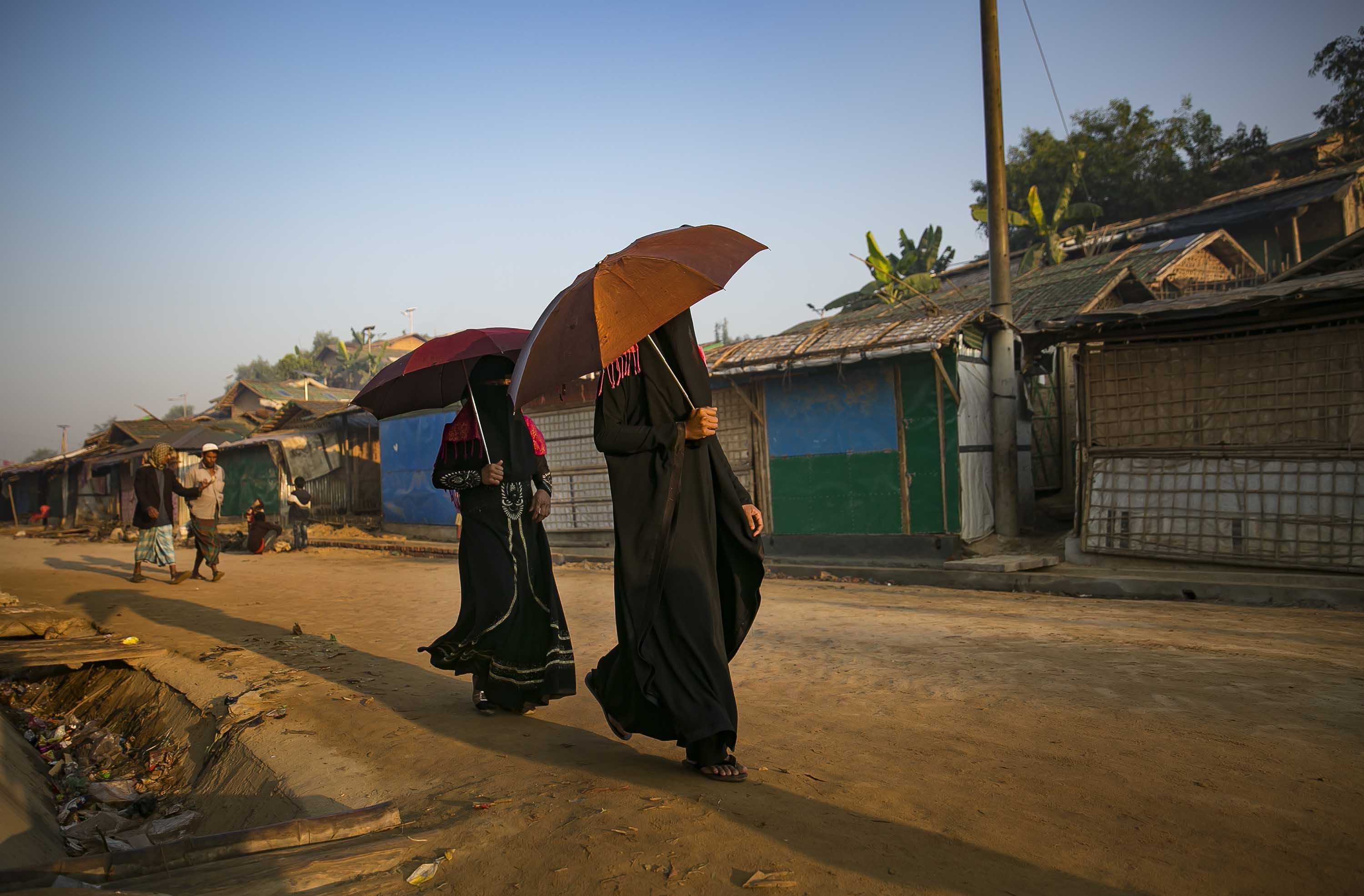 Rohingya women at a refugee camp in Cox's Bazar, Bangladesh, in December 2019.