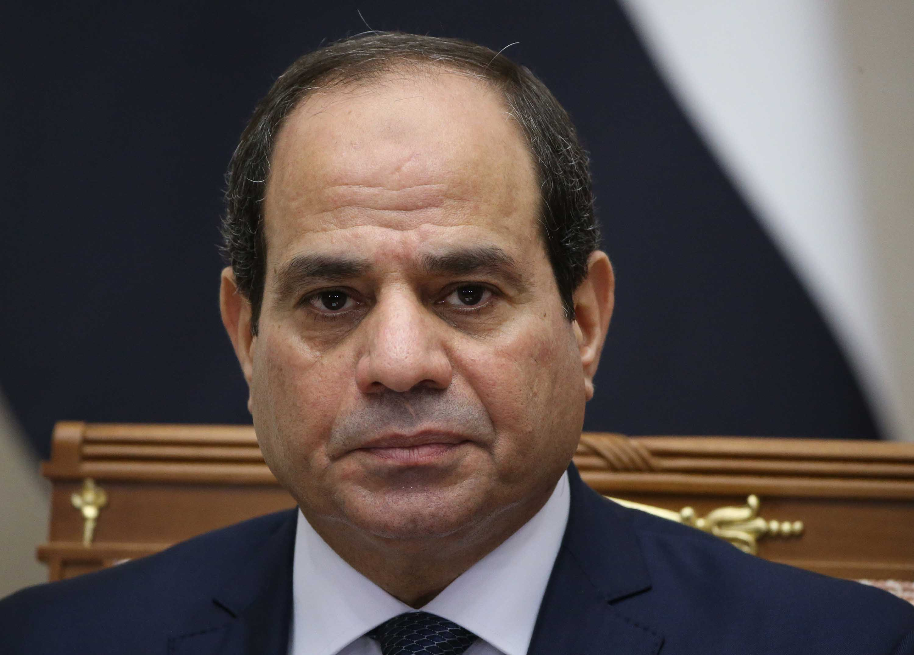 Egyptian President Abdel Fattah el-Sisi pictured at a meeting in Sochi, Russia, in October 2018.