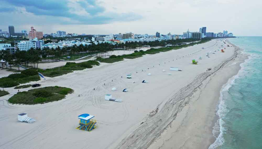 South Beach is seen in Miami Beach, Florida, on May 27.