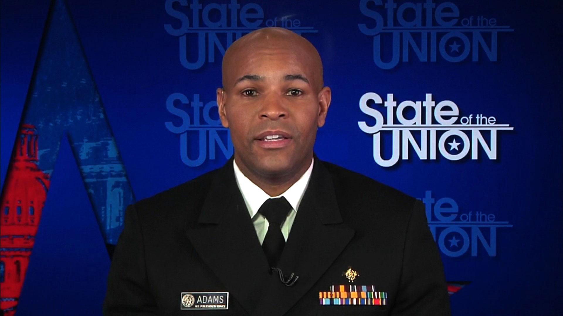 US Surgeon General Jerome Adams speaks with CNN on Sunday, January 3.