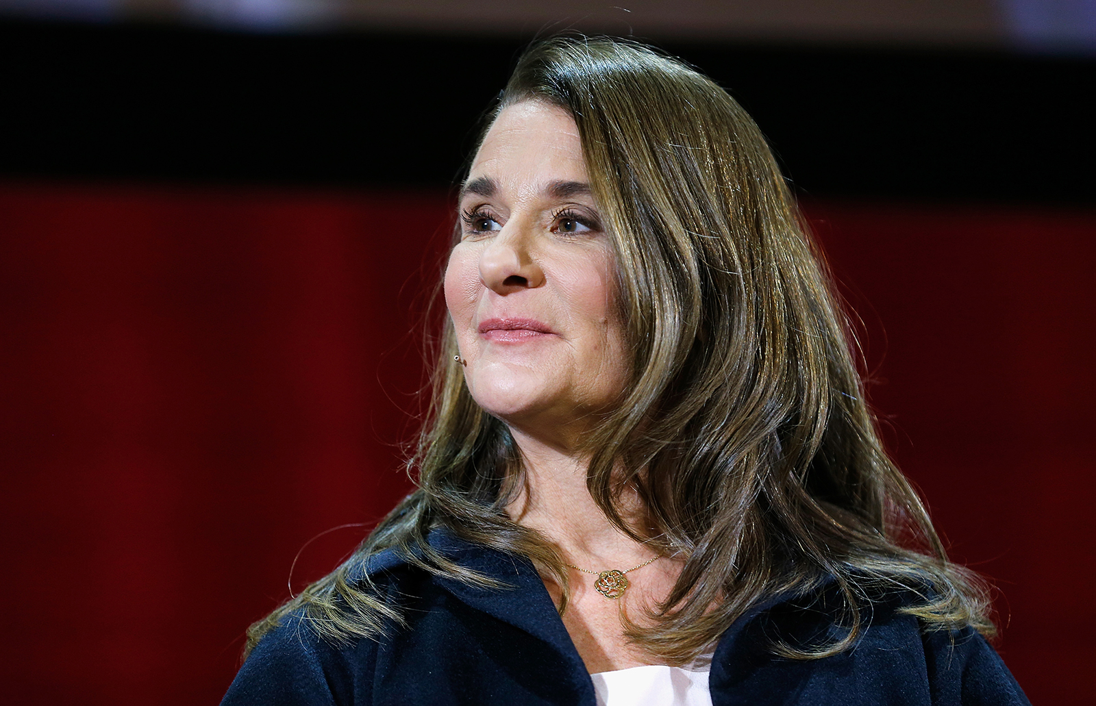 Melinda Gates speaks at Hunter College on February 13, 2018 in New York City.