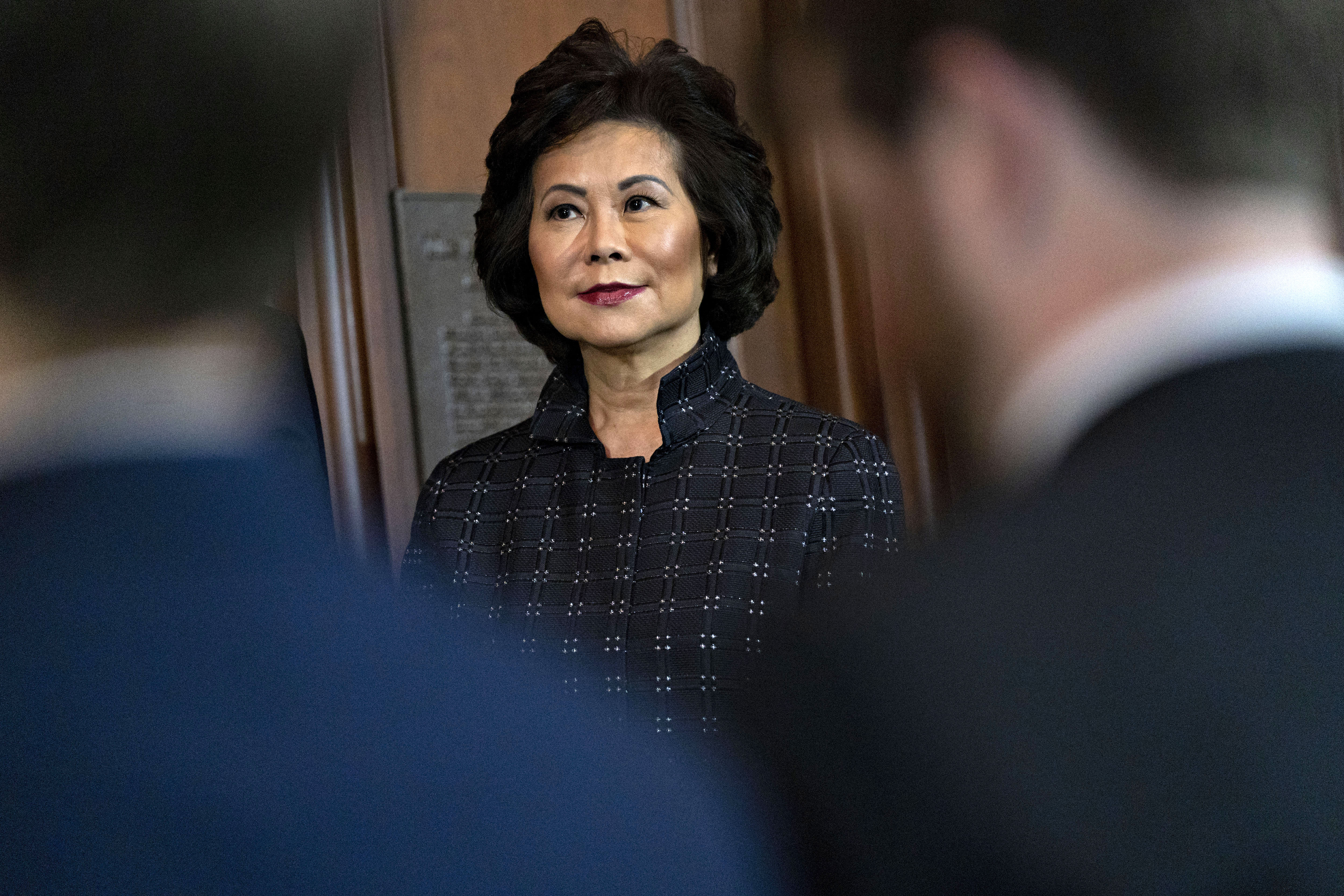 Elaine Chao, secretary of transportation, listens during a policy announcement in Washington, DC, in September 2019.
