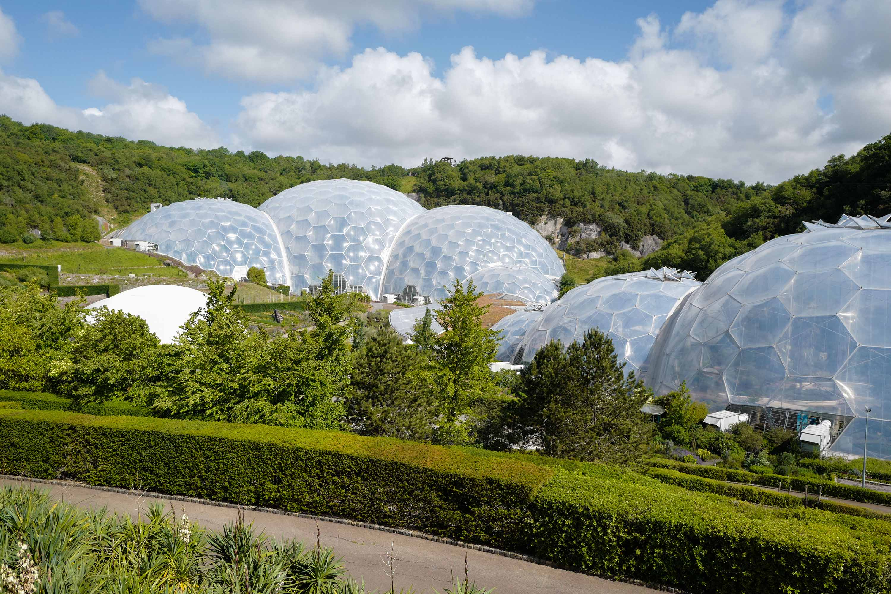 The Eden Project is pictured in June 2020 in St Austel, England.