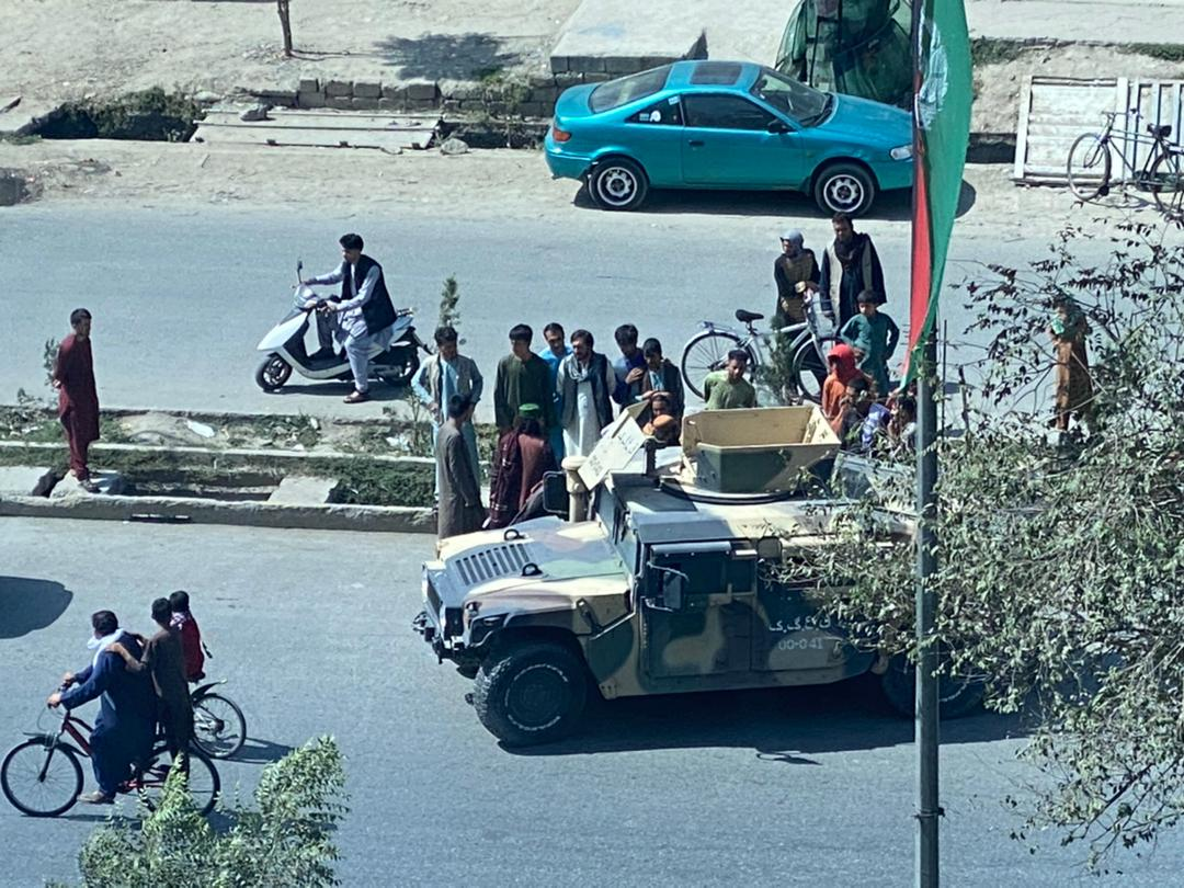 A street view of Kabul, Afghanistan, on August 19.