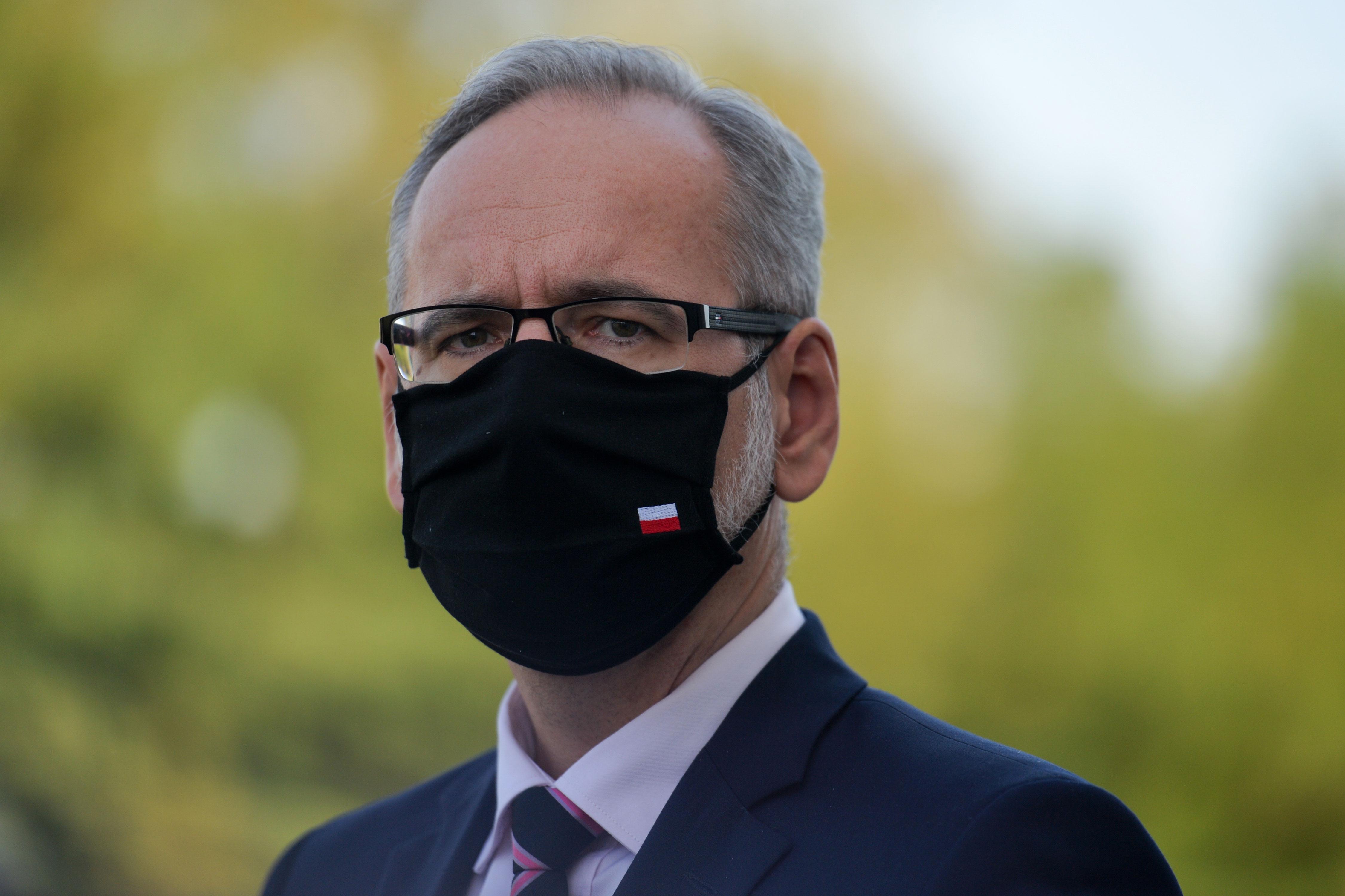Polish health minister Adam Niedzielski attends a press briefing in Kraków, Poland, in September 2020.