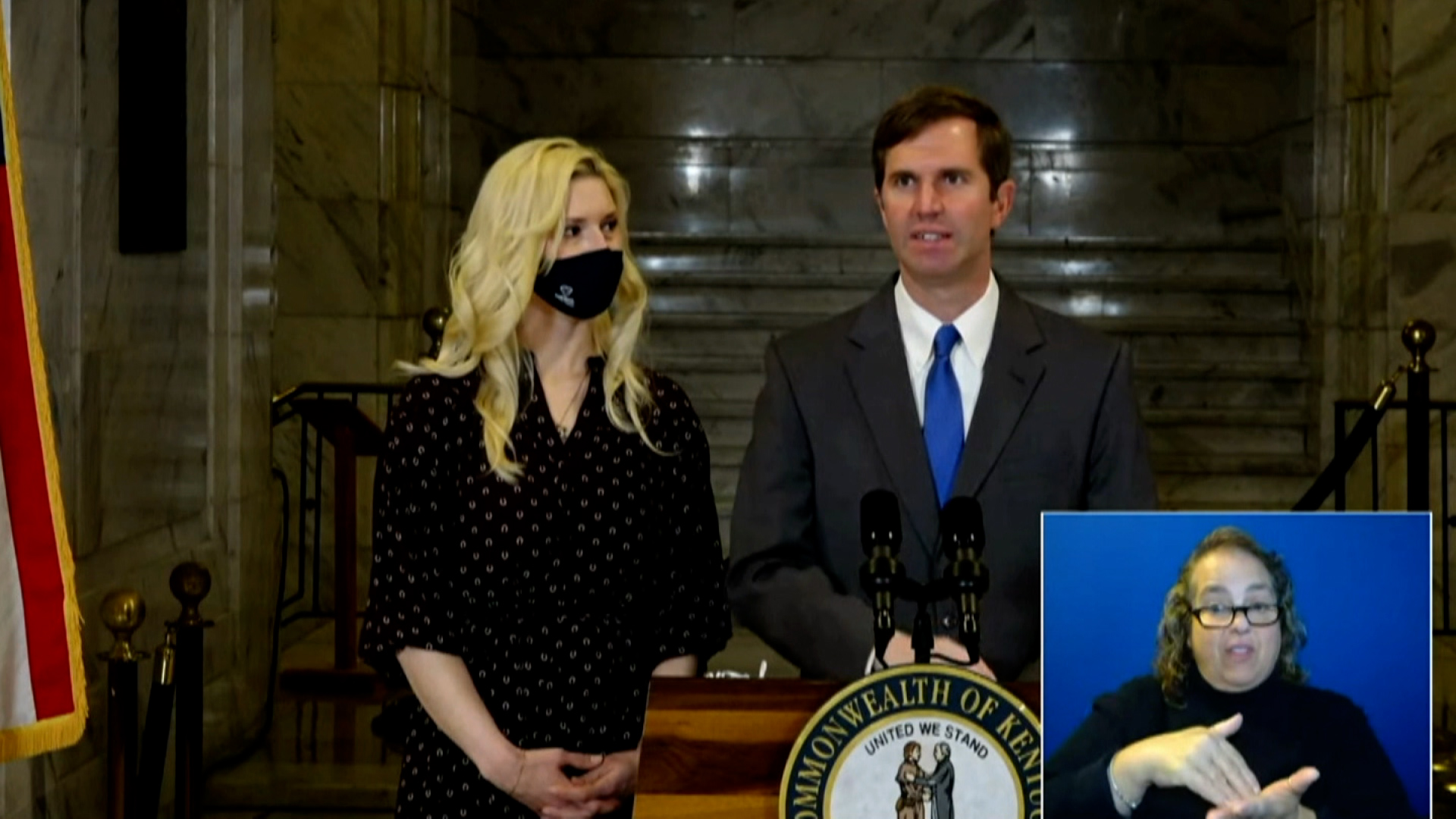 Kentucky Governor Andy Beshear speaks during a briefing on March 15.