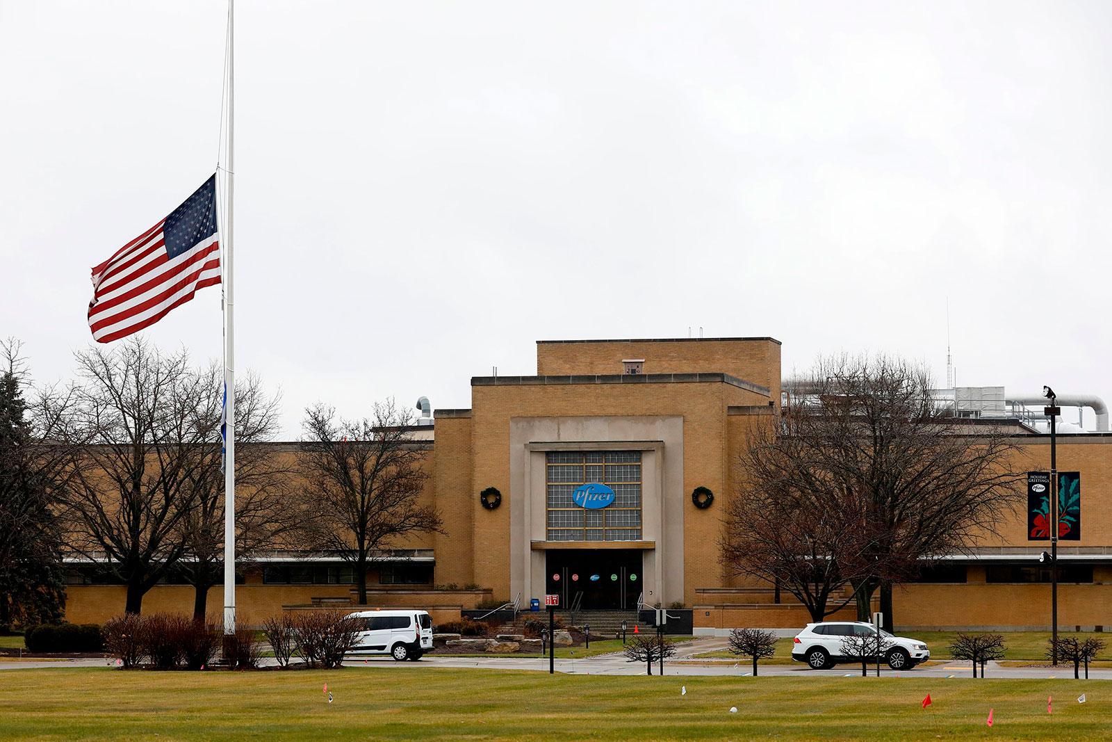 Pfizer's Global Supply facility in Kalamazoo, Michigan, on December 12.