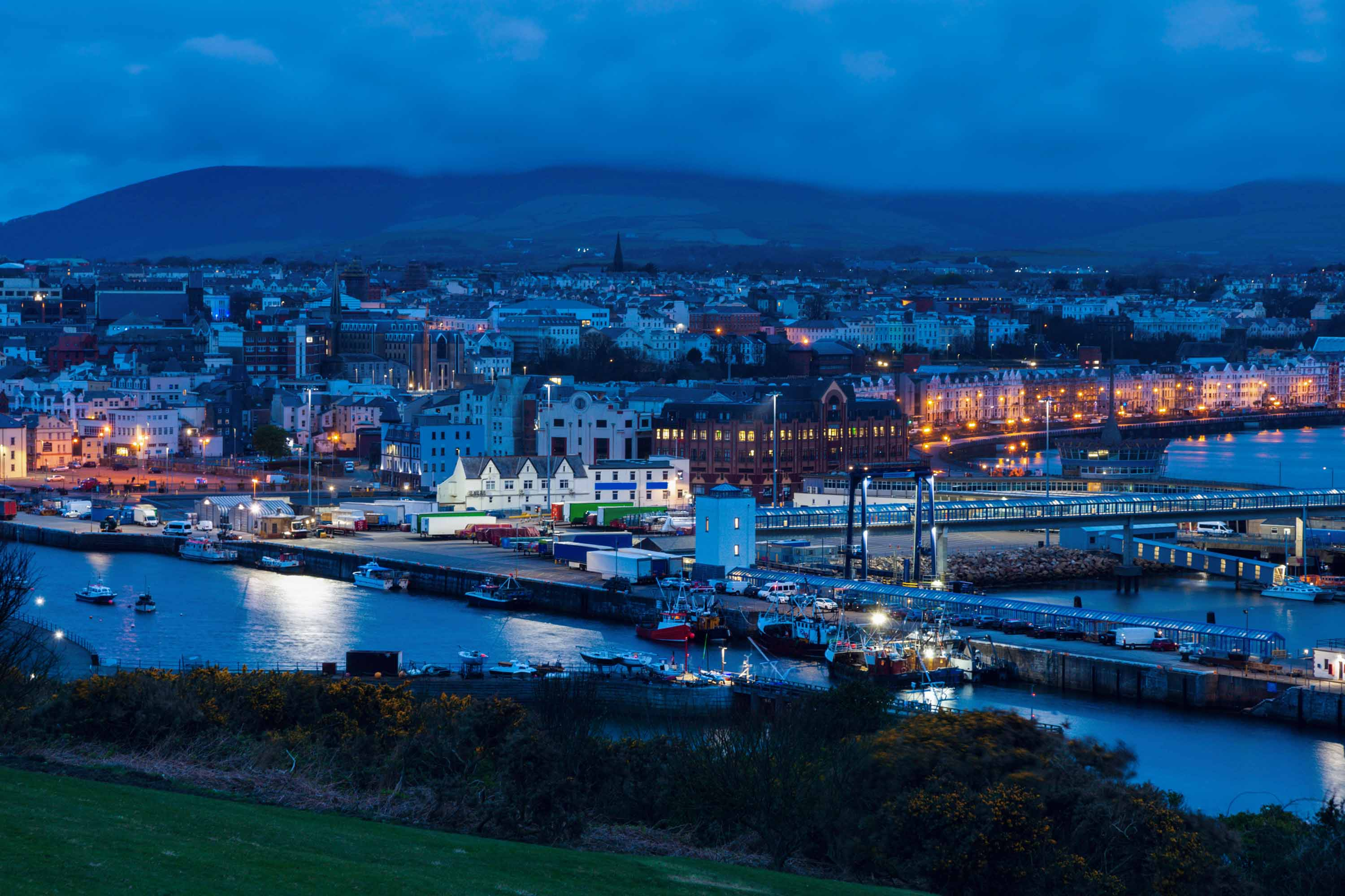 A view of Douglas, the capital of the Isle of Man.