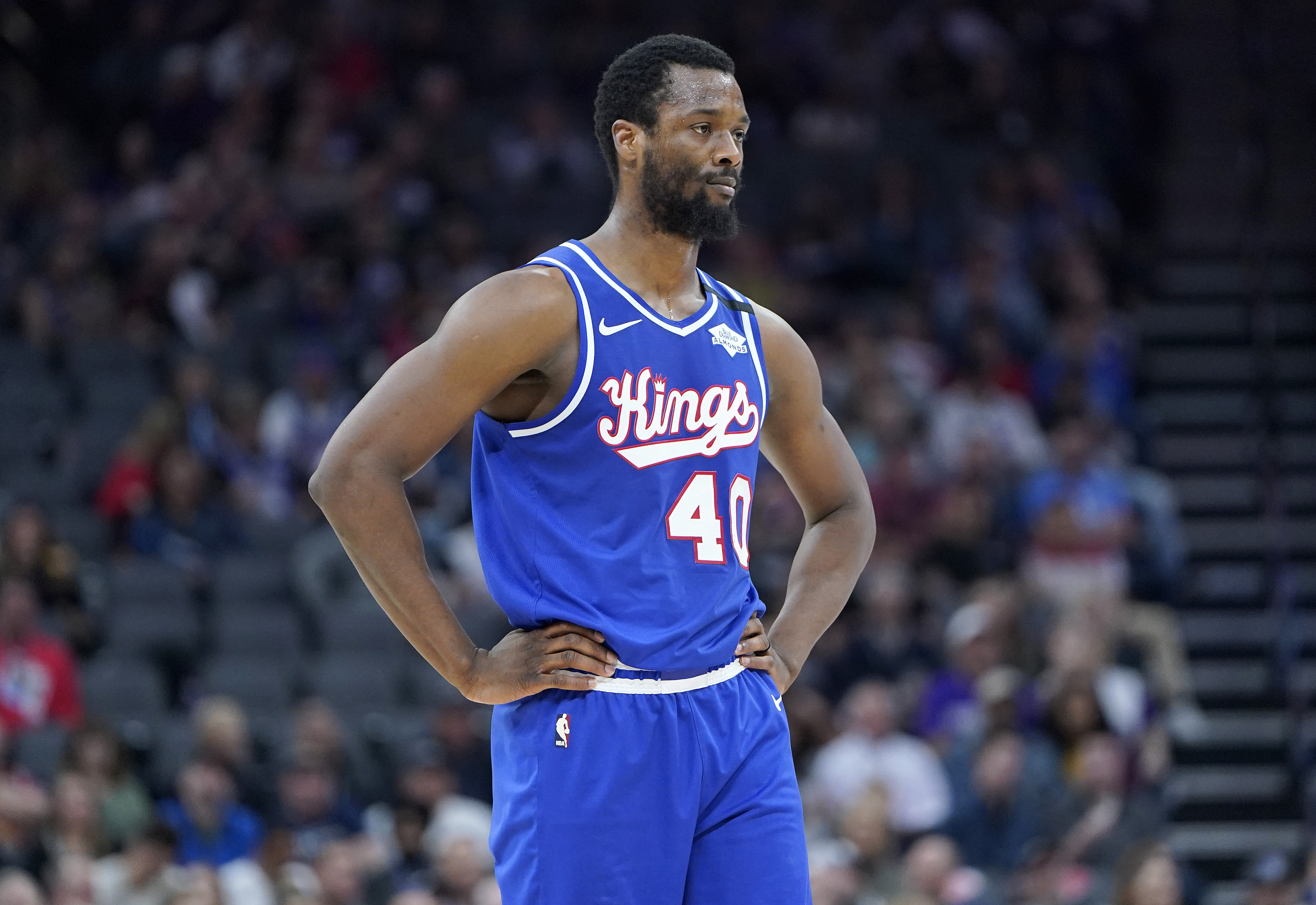 Harrison Barnes plays for the Sacramento Kings in March.
