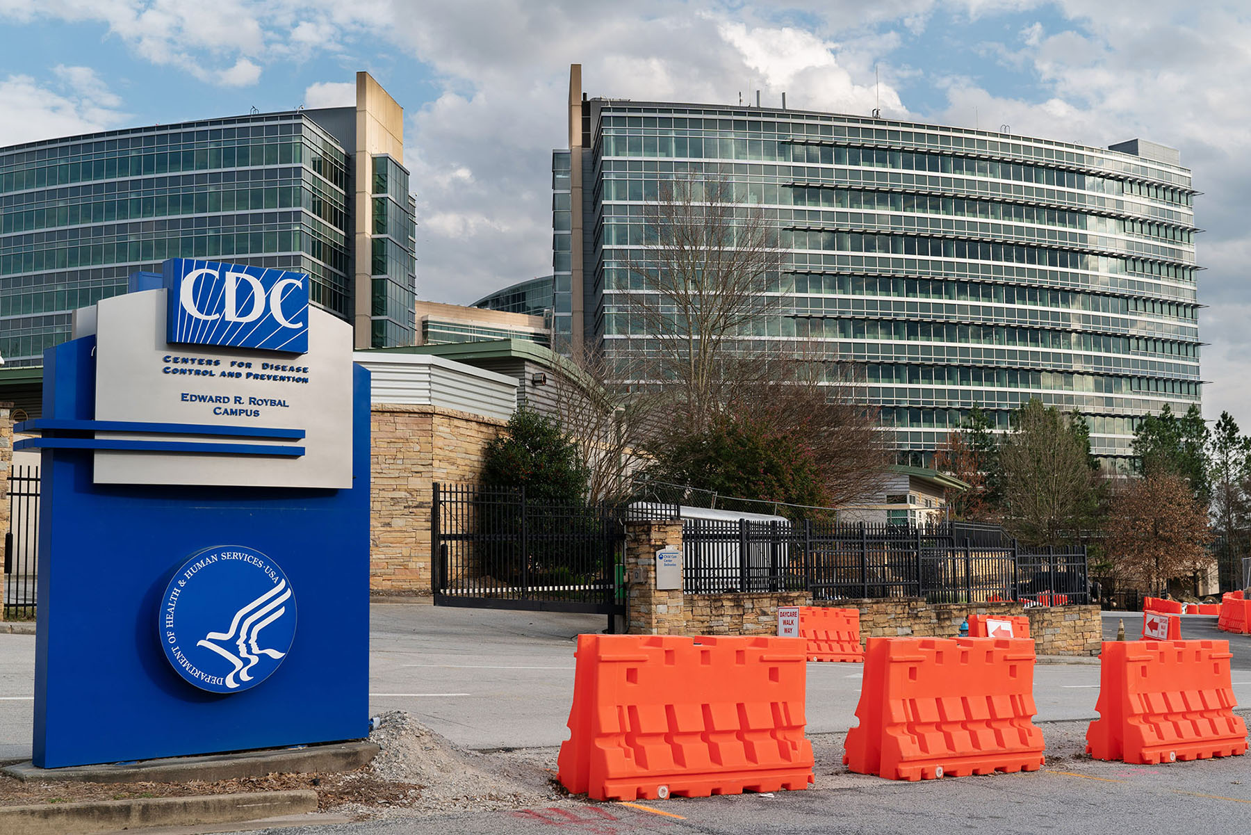 Centers for Disease Control and Prevention (CDC) headquarters in Atlanta, Georgia, on Saturday, March 14.