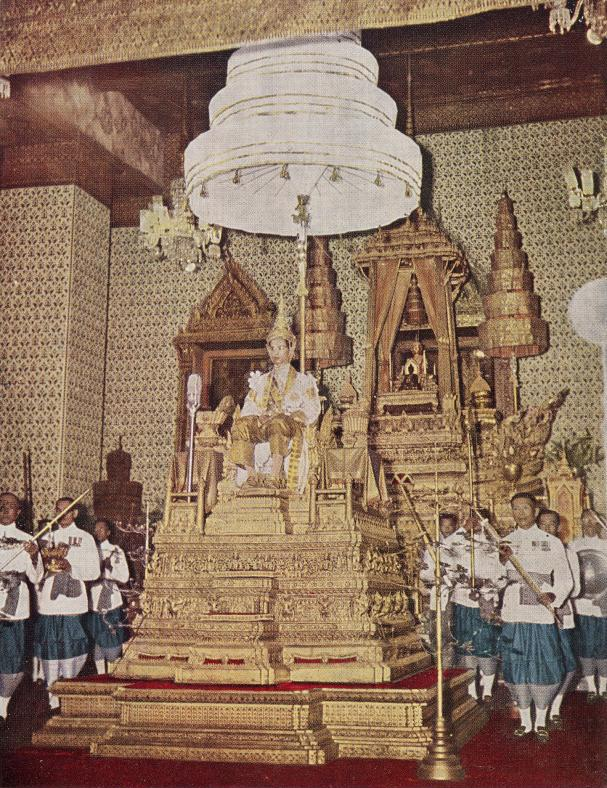 The coronation of King Bhumibol Adulyadej in 1950