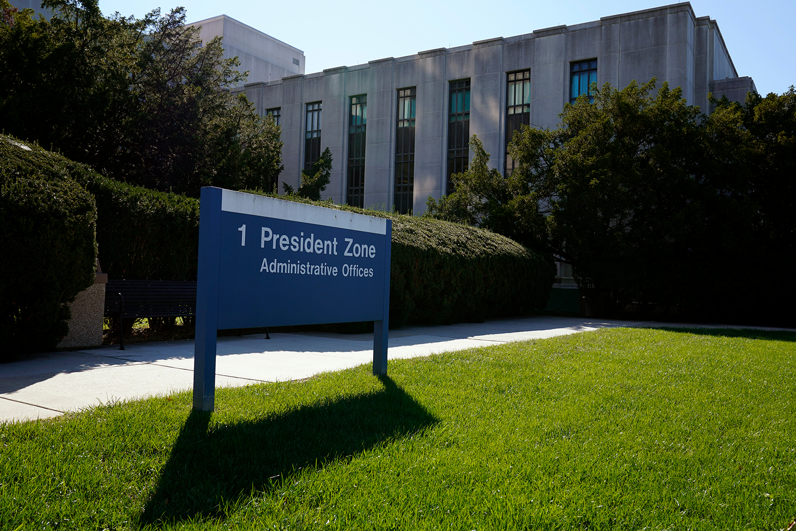 Walter Reed National Military Medical Center is shown in Bethesda, Maryland, on October 3.