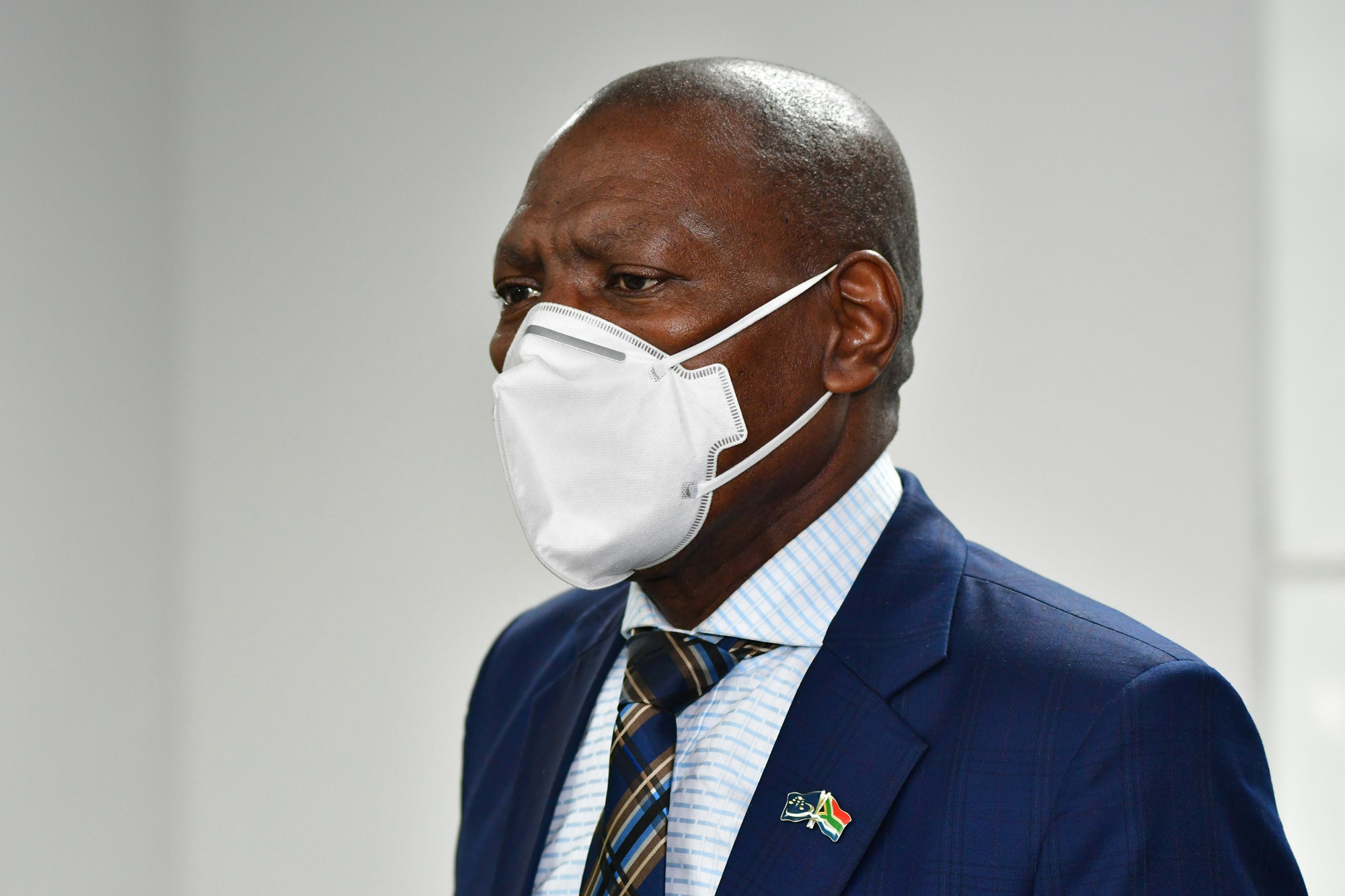 Minister of Health, Dr Zweli Mkhize visits Clairwood Hospital on August 6 in Durban, South Africa.