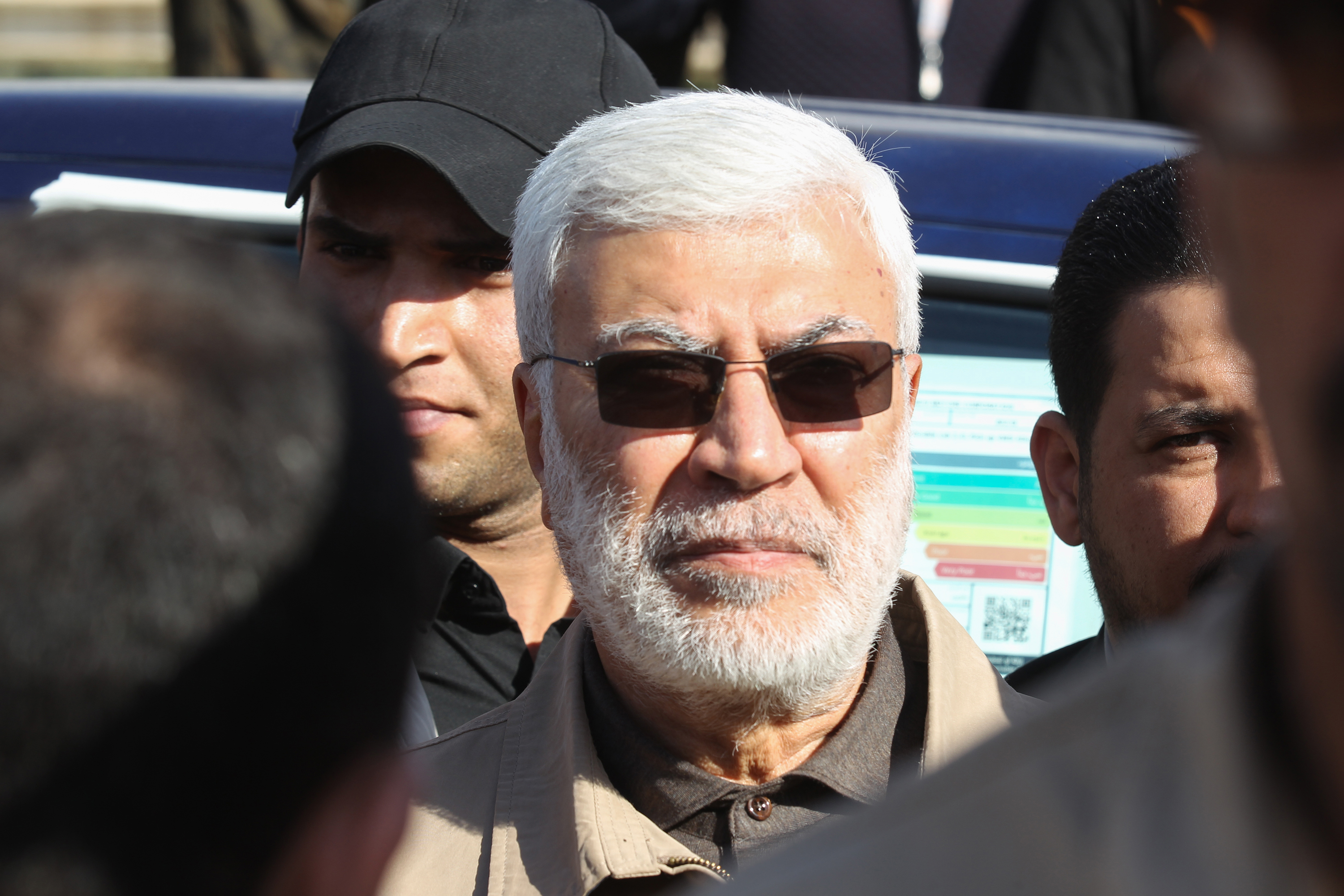 Abu Mahdi al-Muhandis, a commander in the Popular Mobilization Forces.