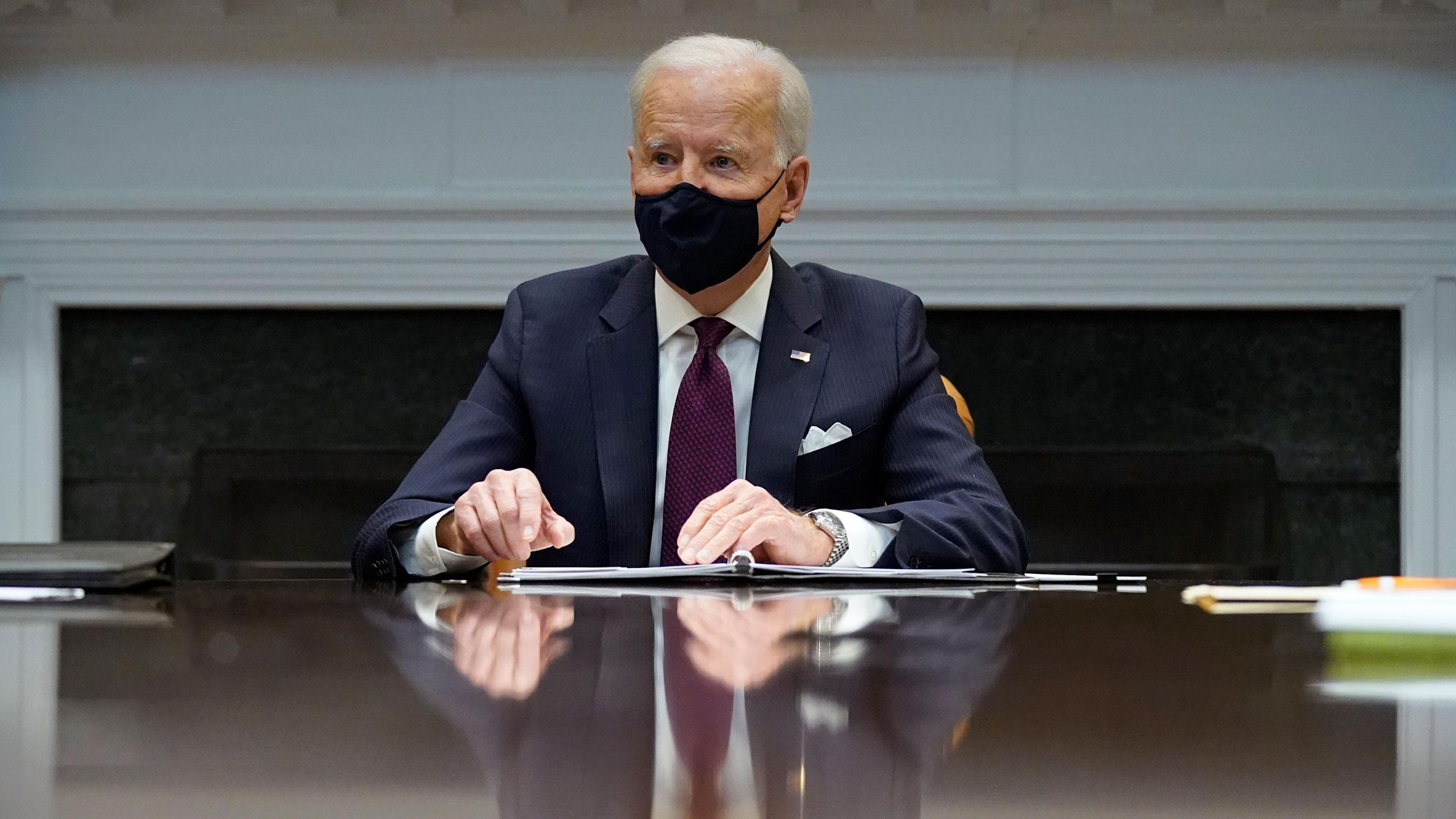President Joe Biden speaks at a White House economic briefing on Friday.