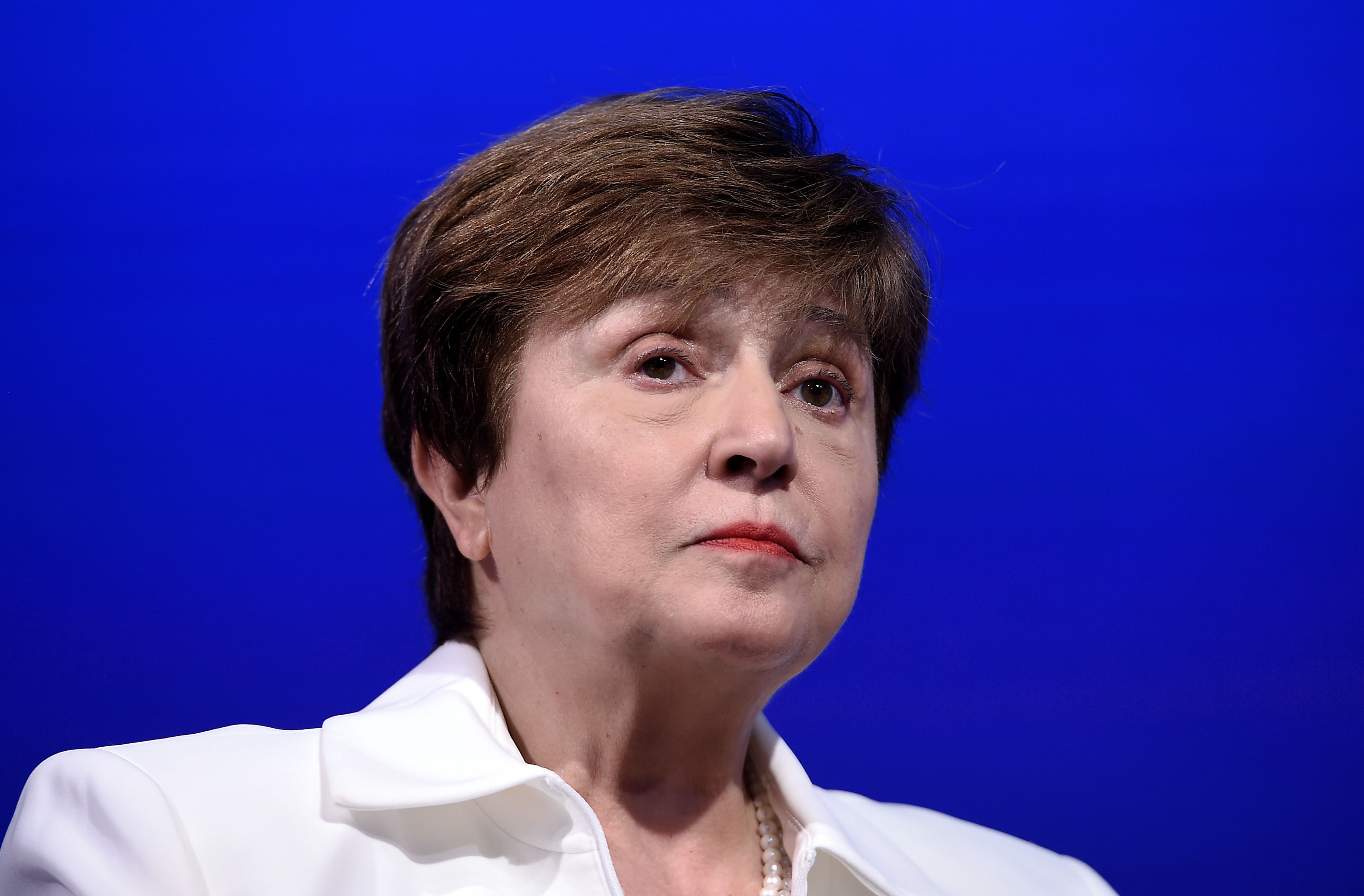 Kristalina Georgieva, the managing director of the International Monetary Fund, attends a meeting in Washington, DC, on October 15, 2019.