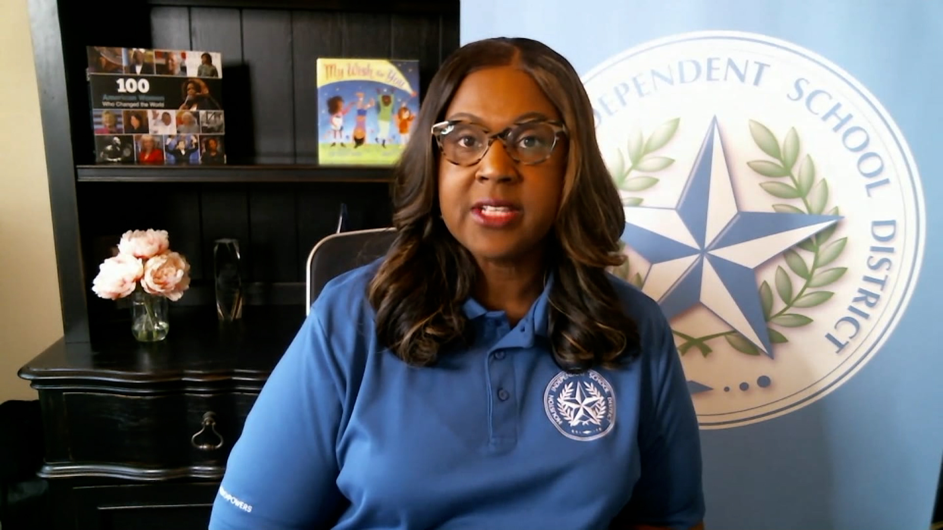 Grenita Lathan, superintendent of the Houston Independent School District, speaks during an interview on February 19.