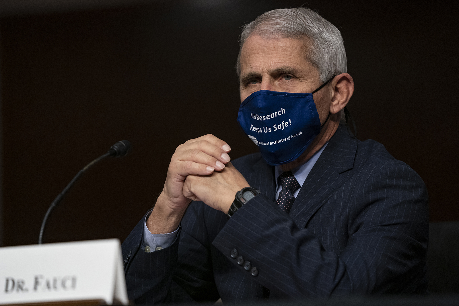 Dr. Anthony Fauci testifies at a hearing of the Senate Health, Education, Labor and Pensions Committee on September 23, in Washington.