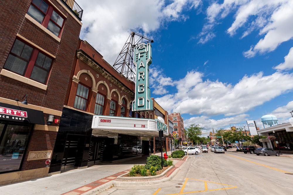 Downtown Fargo, North Dakota.