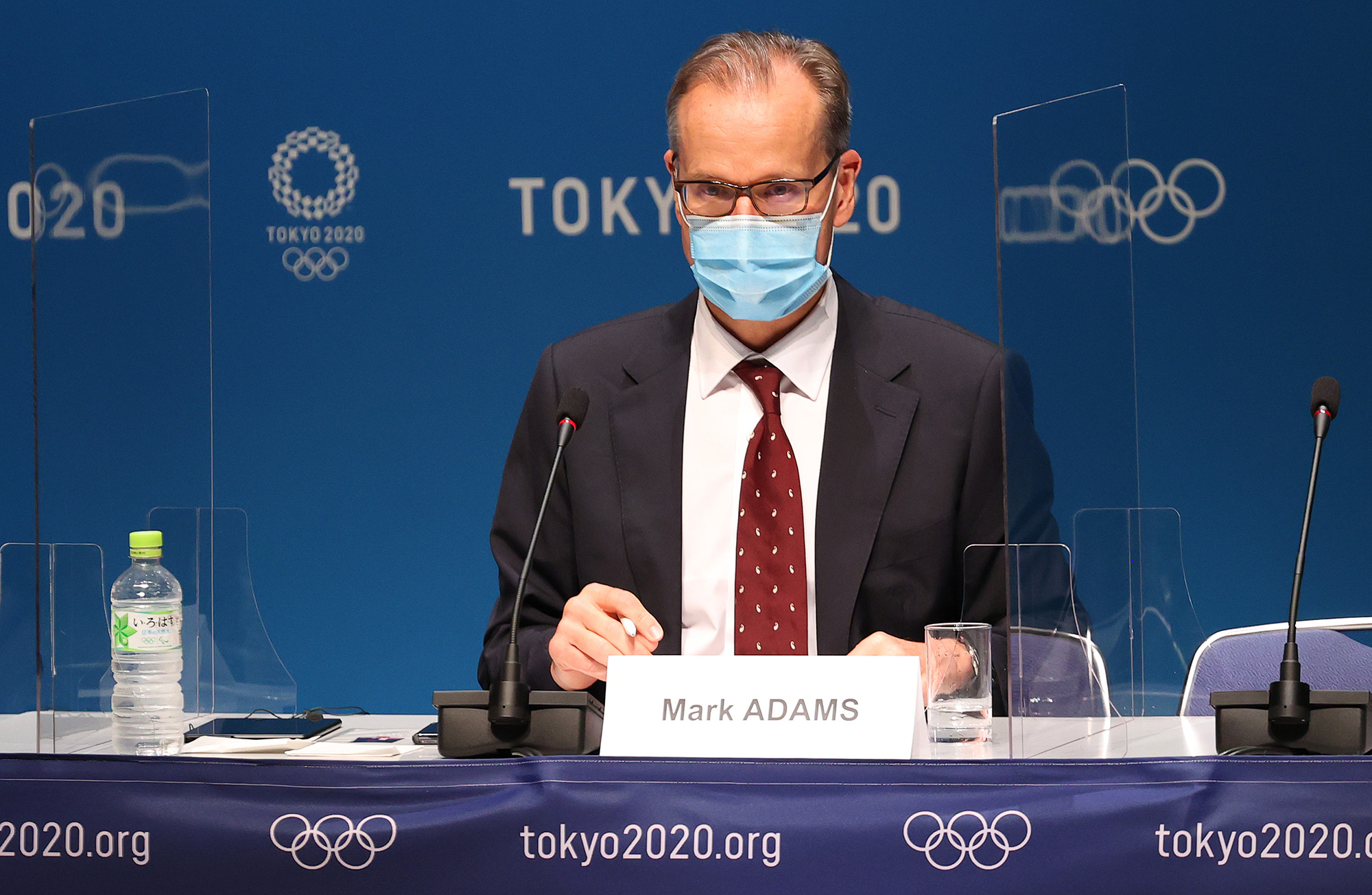 Mark Adams, director of communications at the IOC, speaks to the media ahead of the Tokyo 2020 Olympic Games on July 21 in Tokyo.