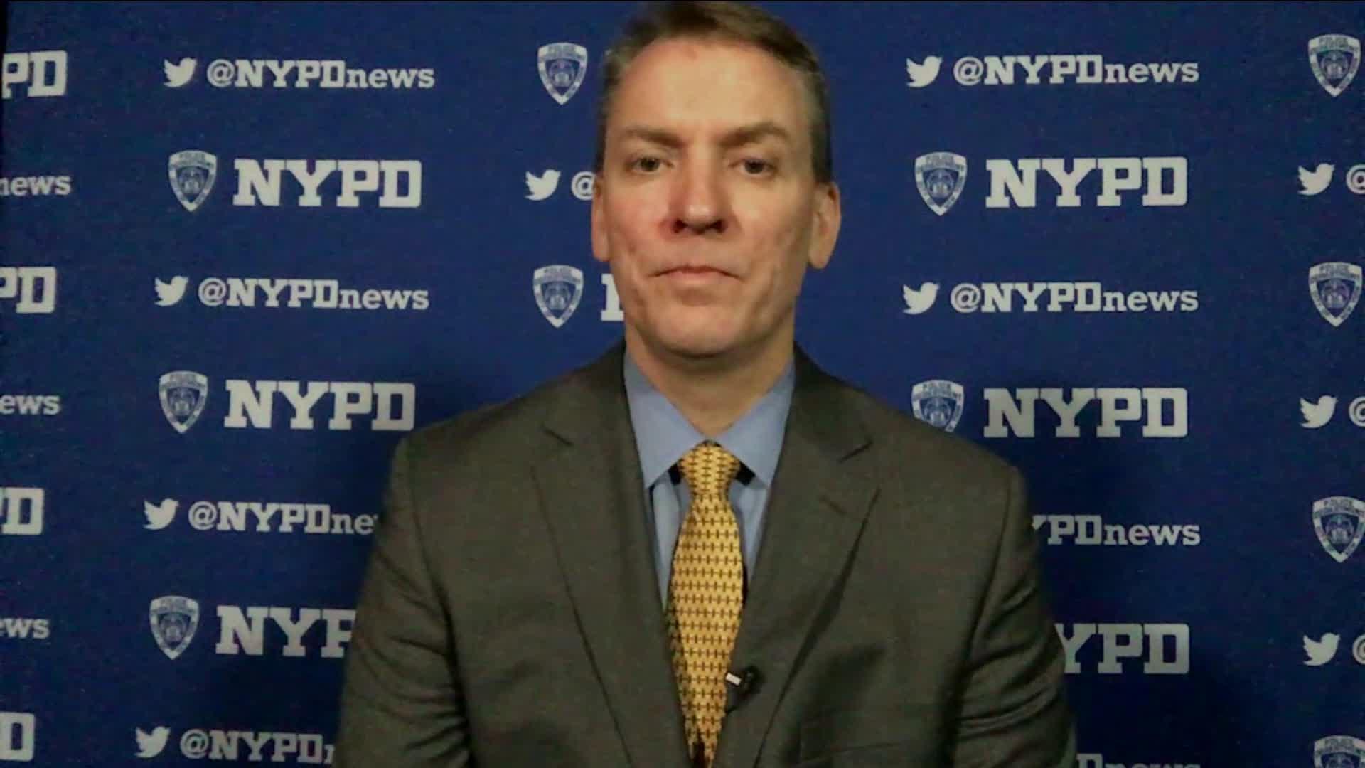 """New York City Police Commissioner Dermot Shea on CNN's """"Newsroom"""" on June 4."""