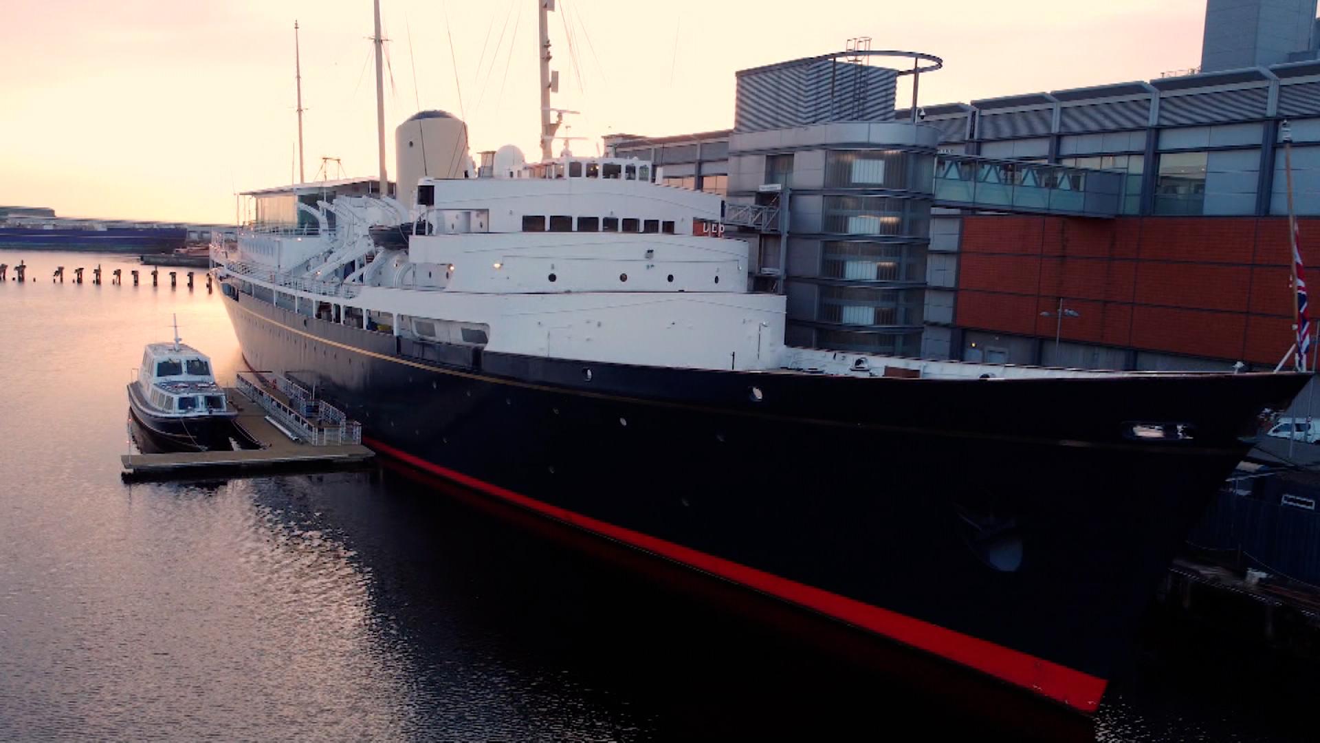 The Royal Yacht Britannia.