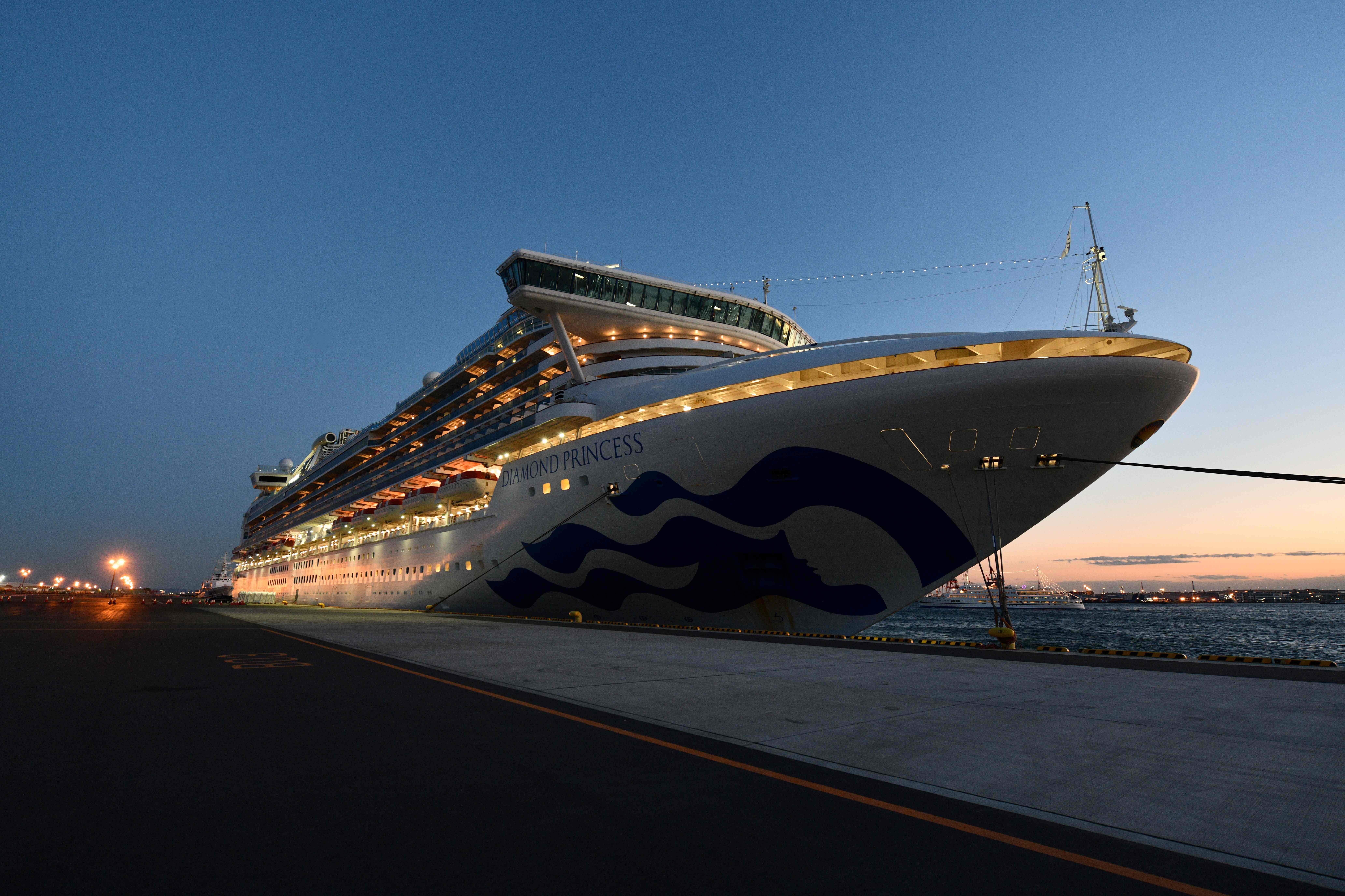 The Diamond Princess cruise ship in Yokohama port on February 6, 2020.