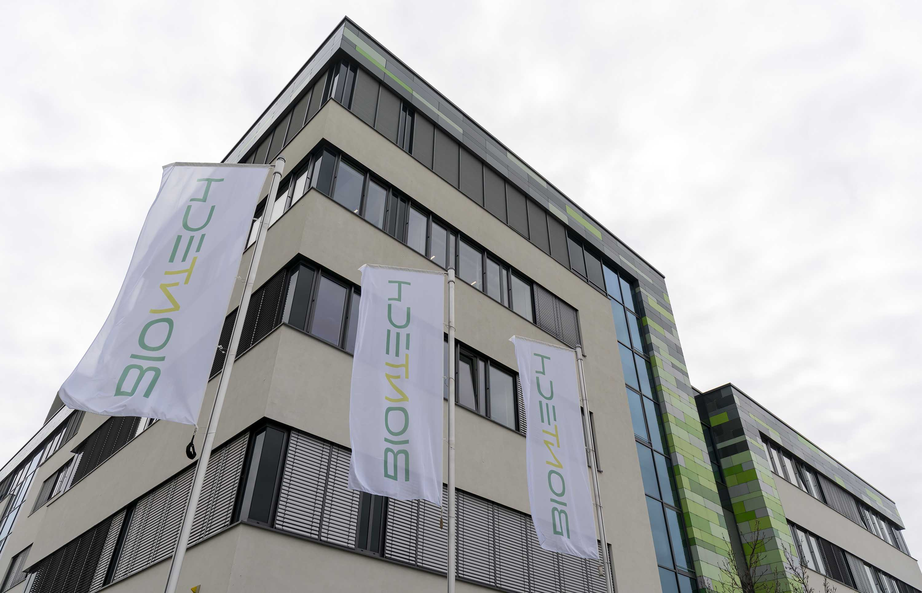 An exterior view of biopharmaceutical company BioNTech in Mainz, Germany, pictured on March 18.