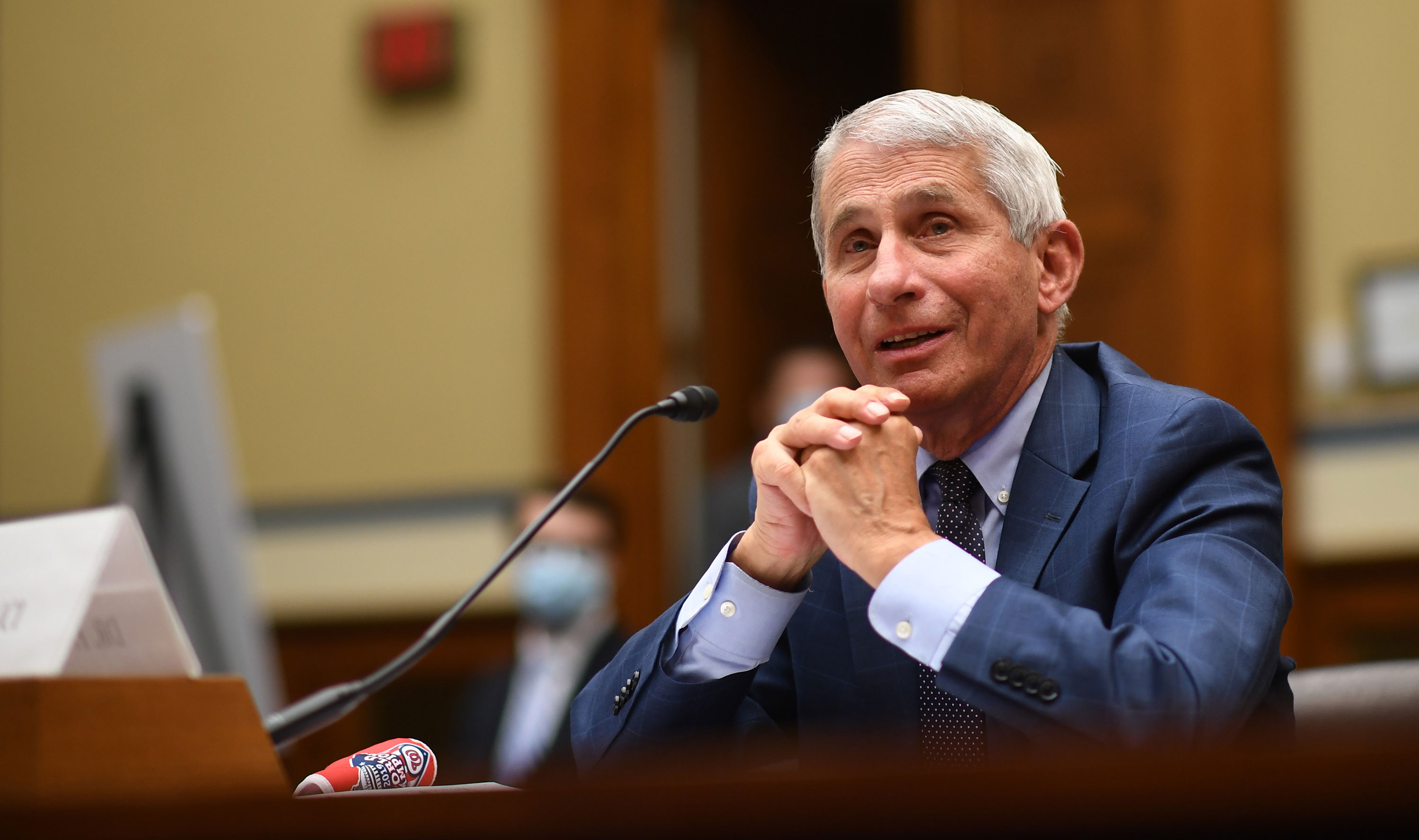 Dr. Anthony Fauci, director of the National Institute for Allergy and Infectious Diseases, testifies before a House Subcommittee on the Coronavirus Crisis hearing on July 31 in Washington, DC.