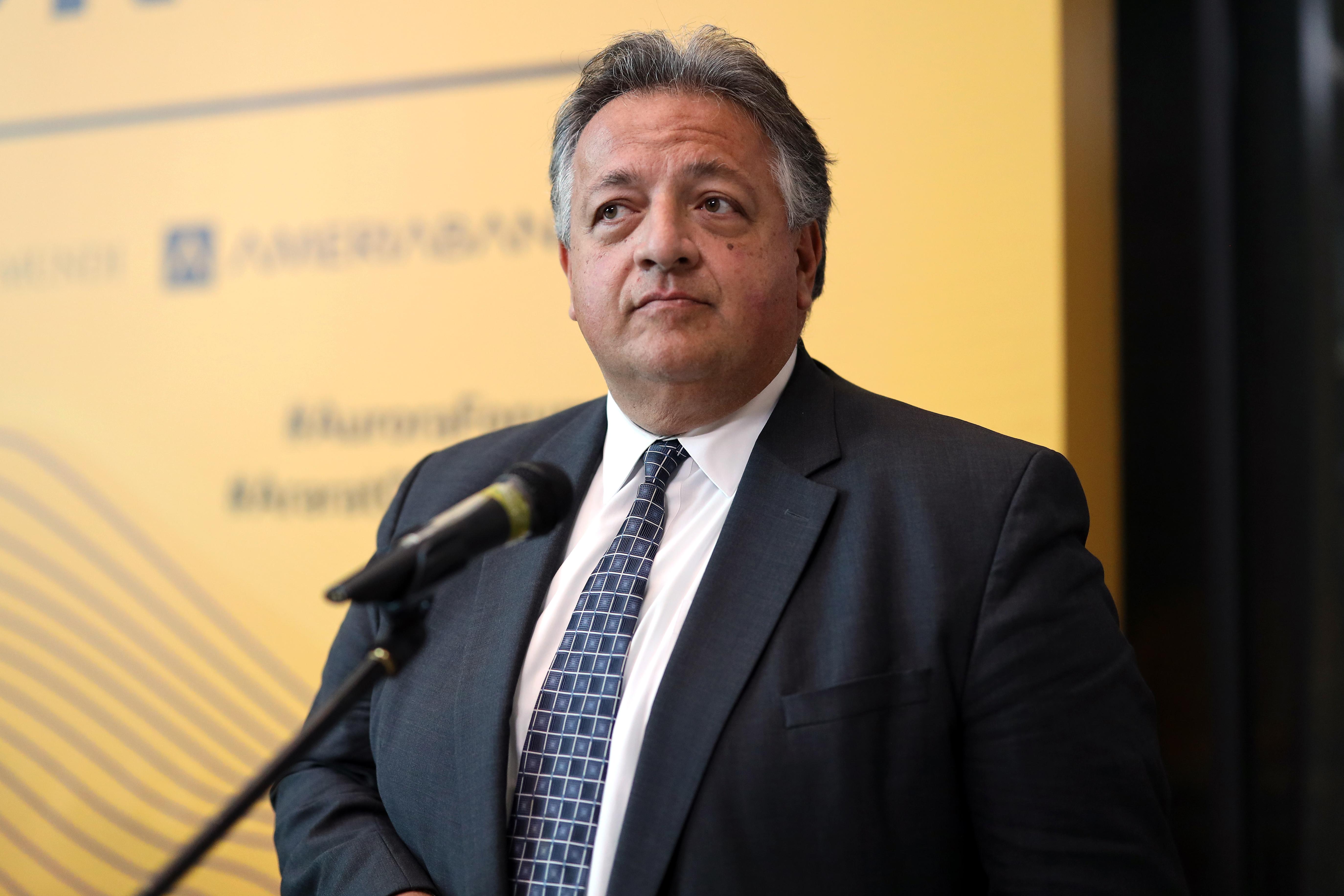 Noubar Afeyan speaks at the 2019 Aurora Forum on October 16, 2019 in Yerevan, Armenia.