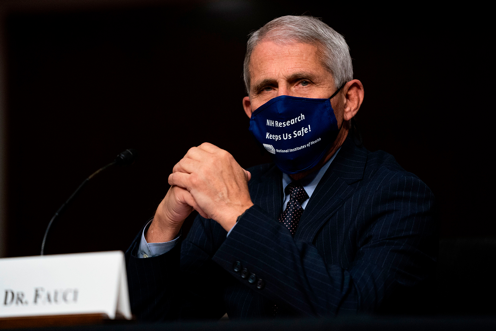 Dr.Anthony Fauci arrives to testify during a House Select Subcommittee on the Coronavirus Crisis hearing in Washington, DC, on Wednesday, September 23.