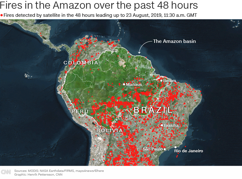 Live updates: Rainforest fires in the Amazon - CNN on map of rio de janeiro, iguazu falls, temperate rainforest, amazon basin, amazon river, map of europe, map of angel falls, map of chile, map of brazil, map of vatnajokull glacier, map of ecuador, map of galapagos islands, map of brazilian highlands, map of amazon river, map of gran chaco, tropical rainforest climate, map of costa rica, peruvian amazon, brazilian highlands, map of iguazu river, map of trobriand islands, map of red sea, daintree rainforest, map of andes, tropical rainforest, map of venezuela, map of amazon basin, tropical and subtropical moist broadleaf forests, map of pacific ocean, map of amazon deforestation,