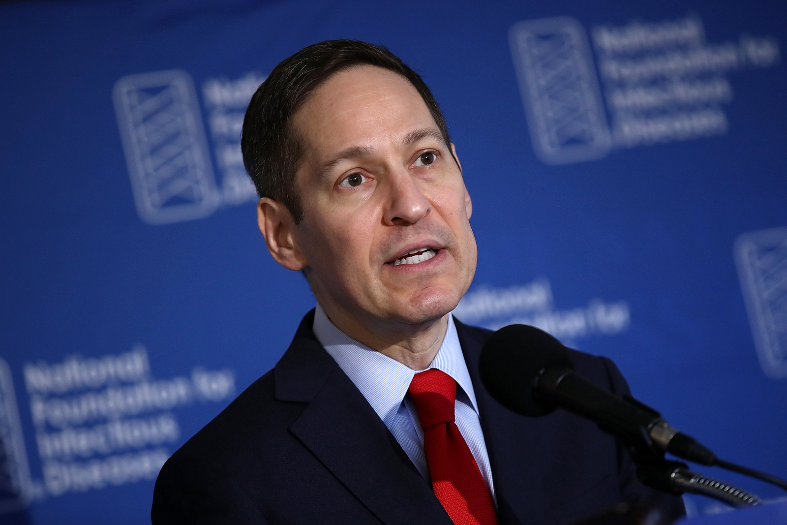Dr. Tom Frieden, then director of the Centers for Disease Control and Prevention, delivers remarks during a press conference in Washington, on September 29, 2016.