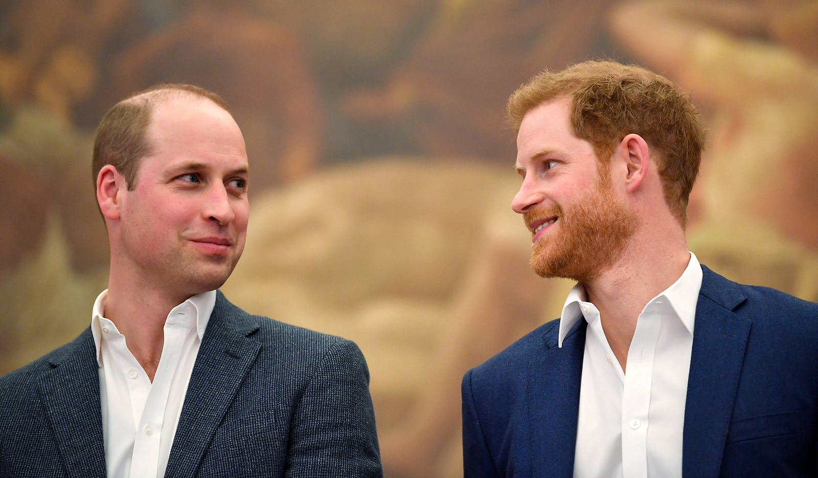 Prince William, Duke of Cambridge and Prince Harry attend the opening of the Greenhouse Sports Centre on April 26, 2018 in London.