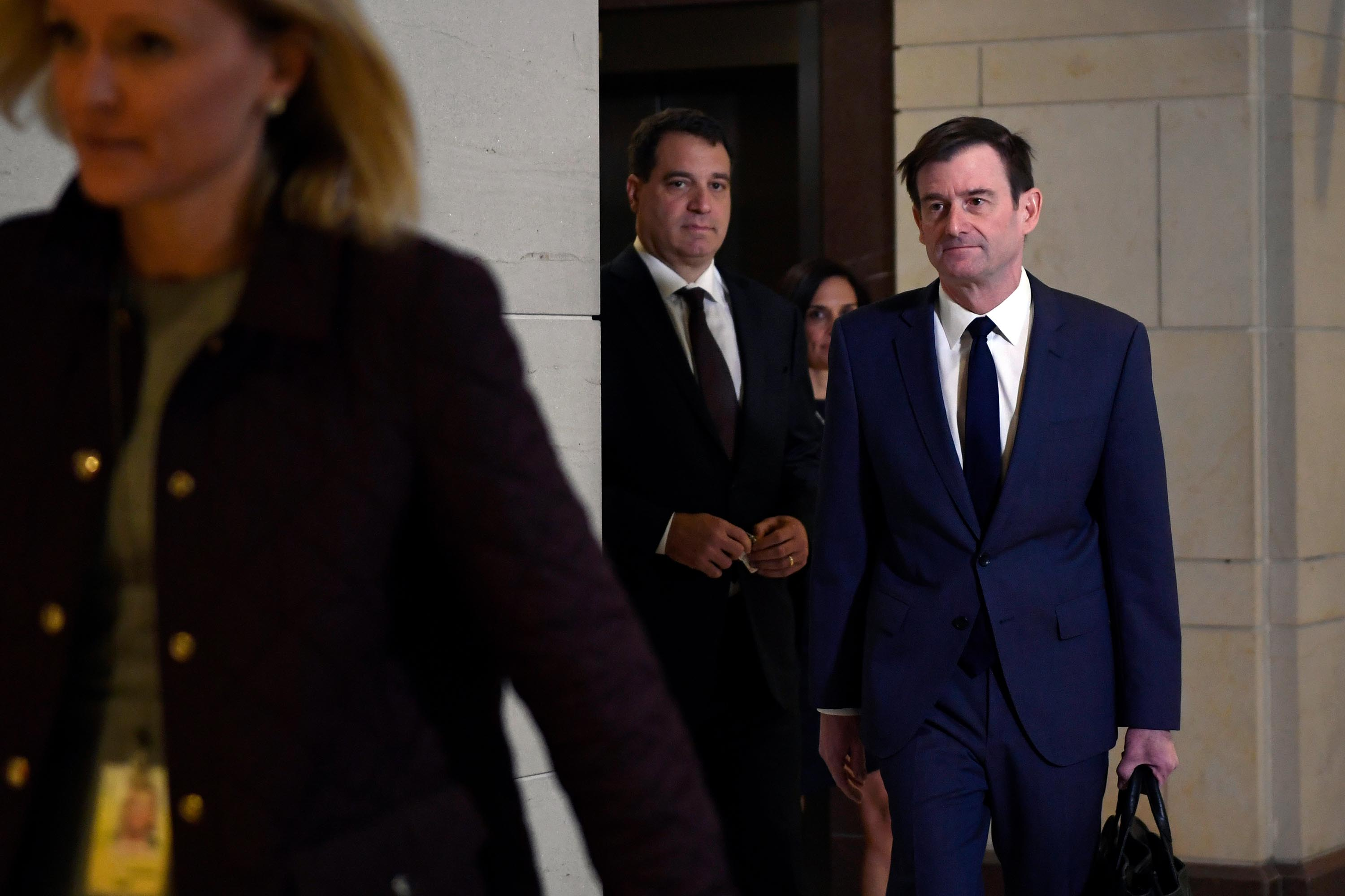 David Hale, right, arrives on Capitol Hill, Wednesday, November 6.