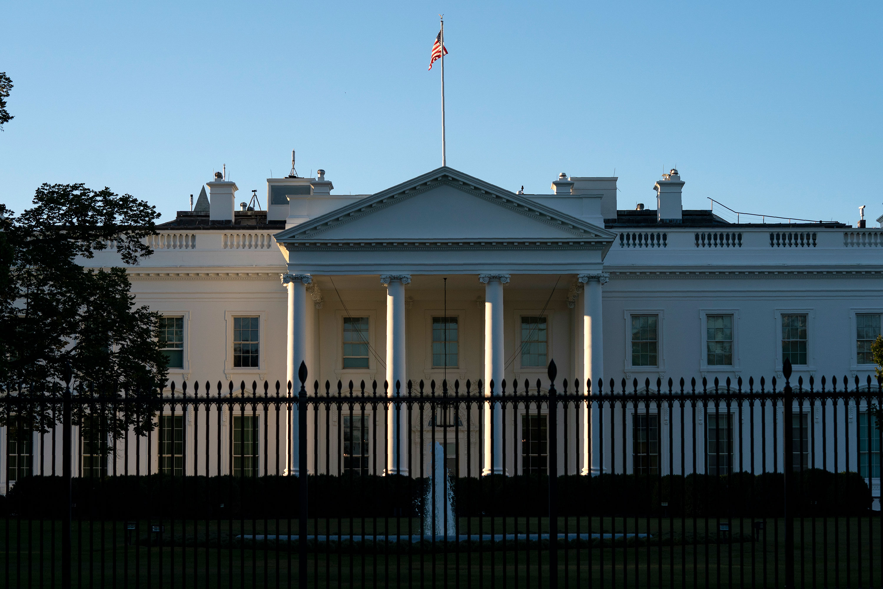 A view of the White House on October 5 in Washington, DC.