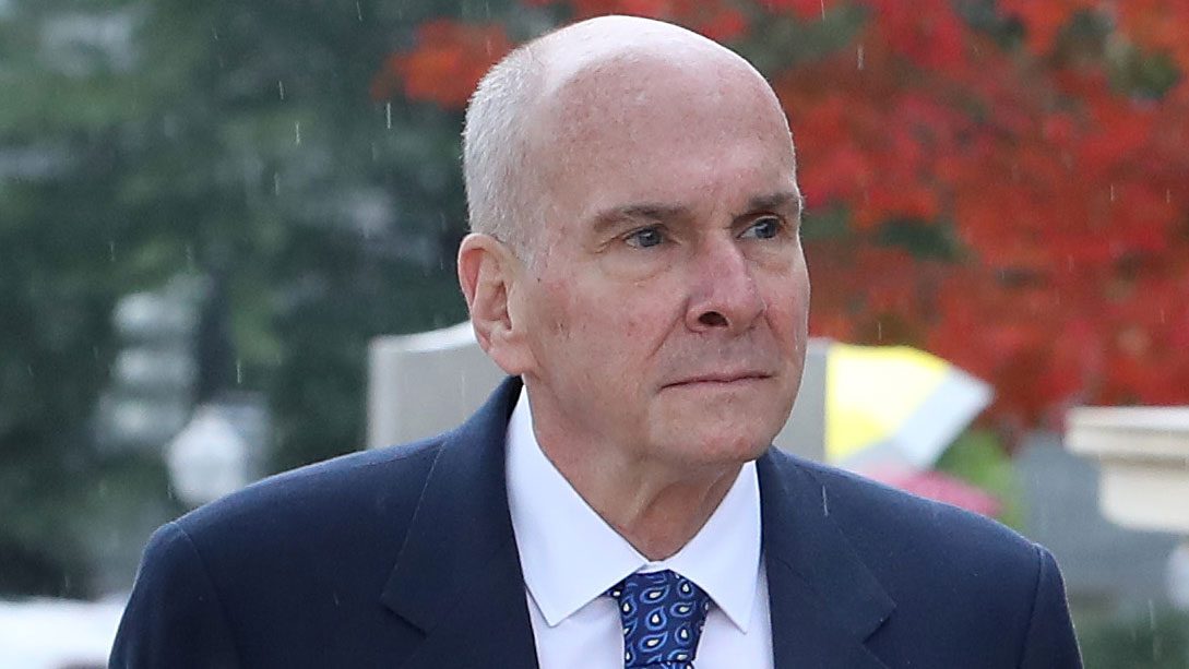 Ambassador Michael McKinley arrives on Capitol Hill for a closed door hearing, October 16.