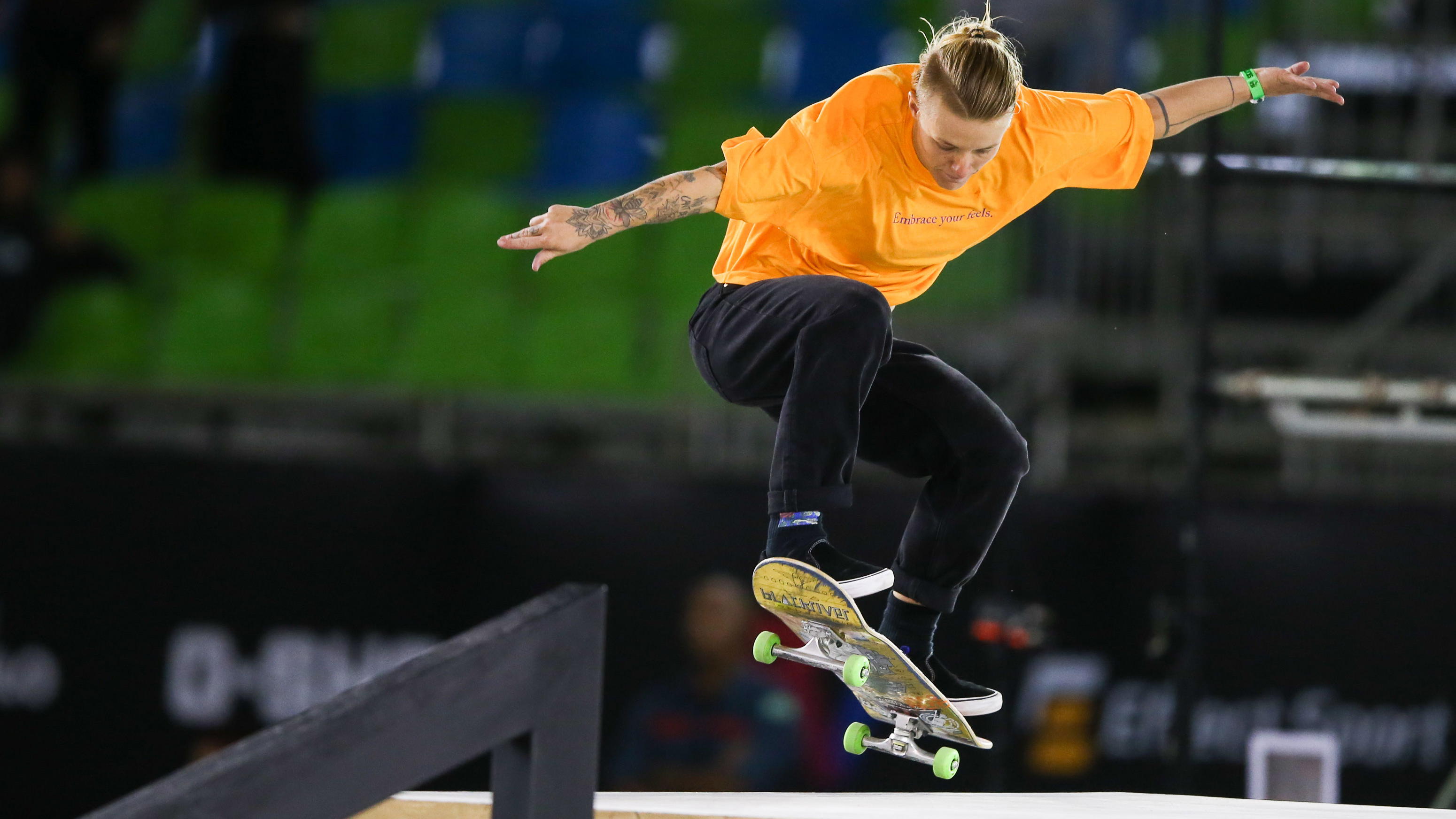 Candy Jacobs of Netherlands competes during the WS/SLS 2019 World Championship at Parque Anhembi on September 22, 2019, in Sao Paulo, Brazil.