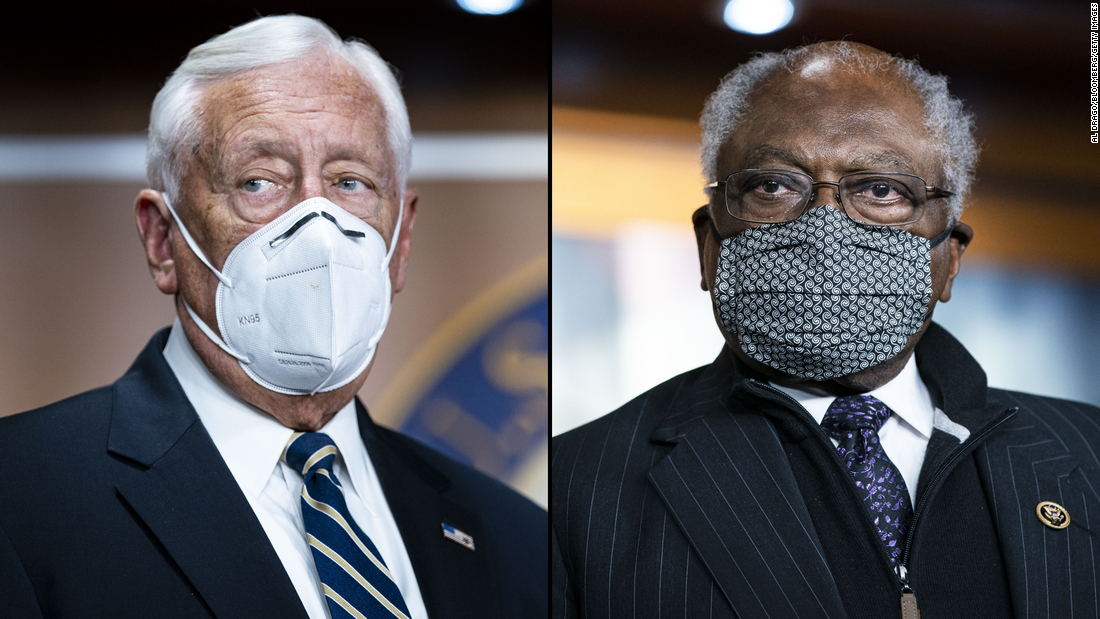 House Majority Leader Steny Hoyer, left, and House Majority Whip Jim Clyburn.