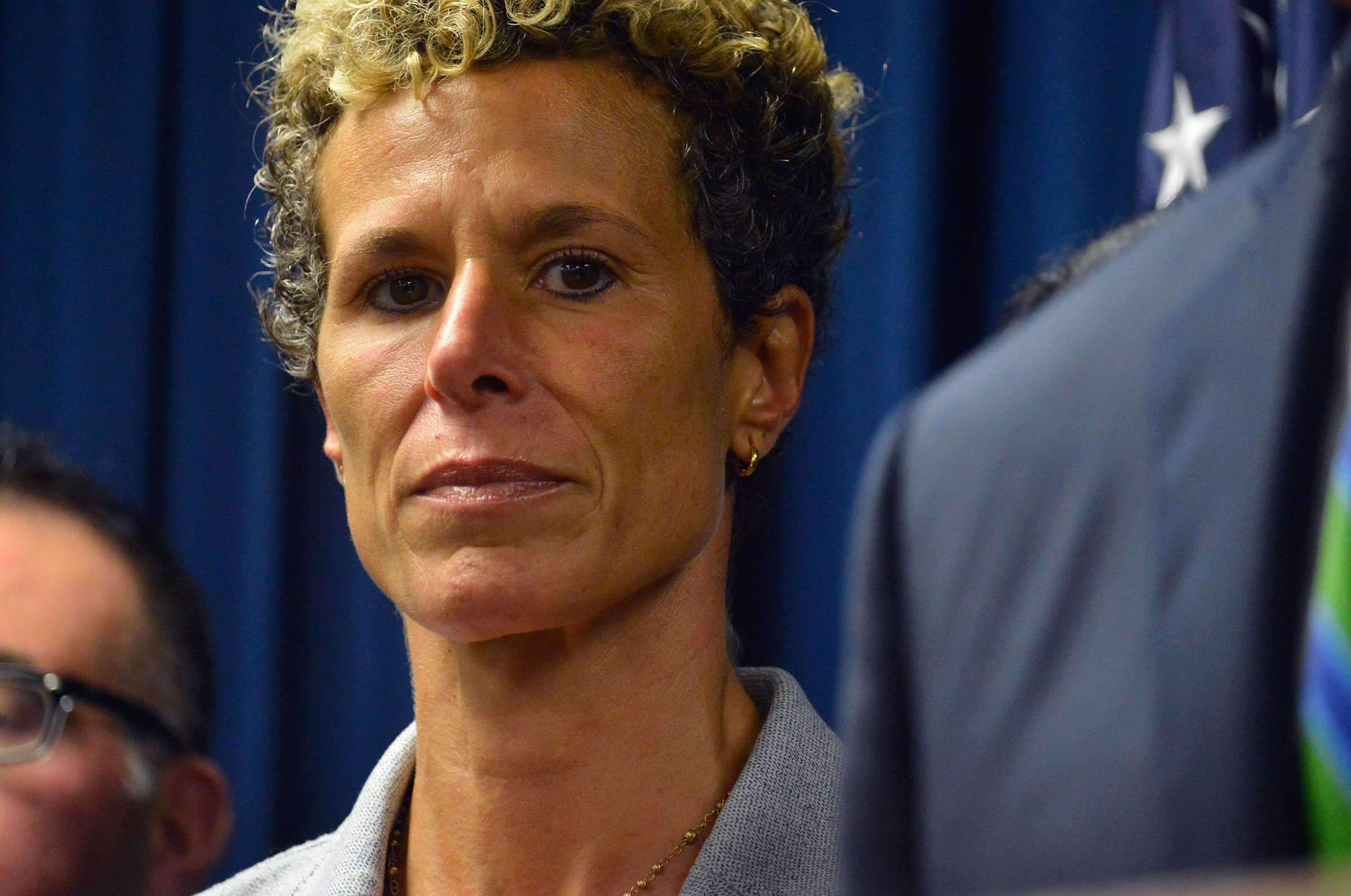 Andrea Constand attends a press conference in Norristown, Pennsylvania, in 2018.