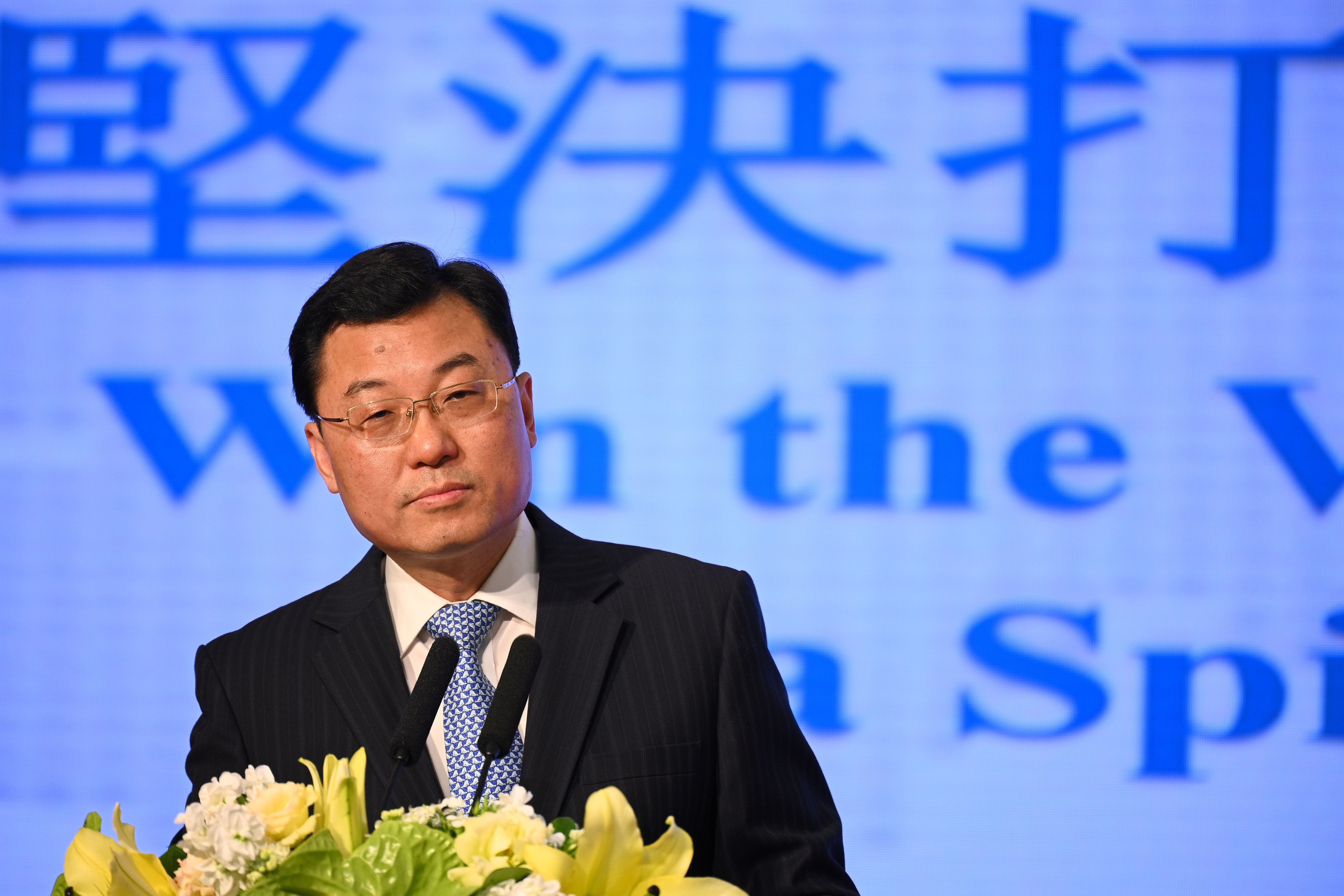 Xie Feng, commissioner of China's Ministry of Foreign Affairs in Hong Kong.