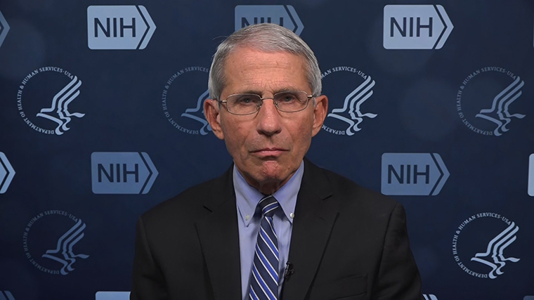 Dr Anthony Fauci runs the US National Institute of Allergy and Infectious Diseases and sits on the White House's coronavirus task force.