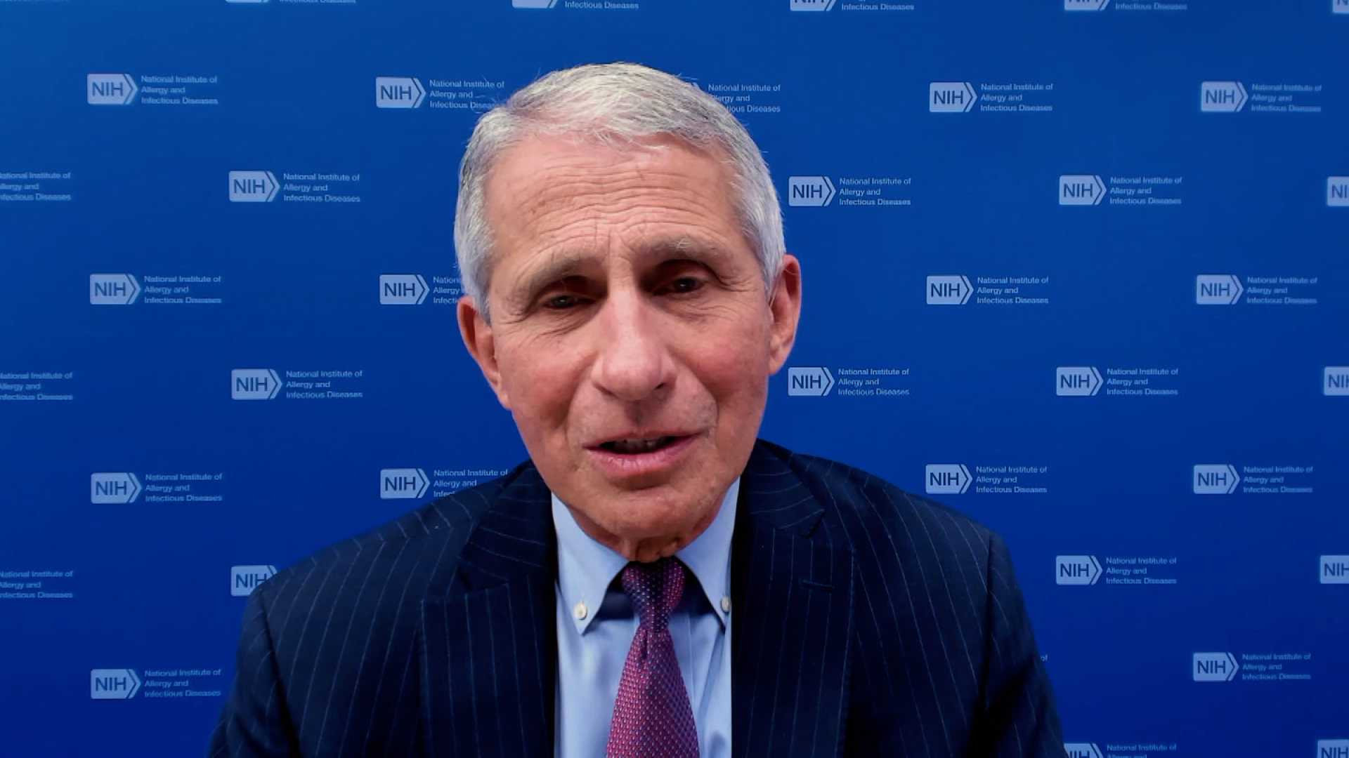 Dr. Anthony Fauci, director of the National Institute of Allergy and Infectious Diseases, speaks during an interview on February 14.