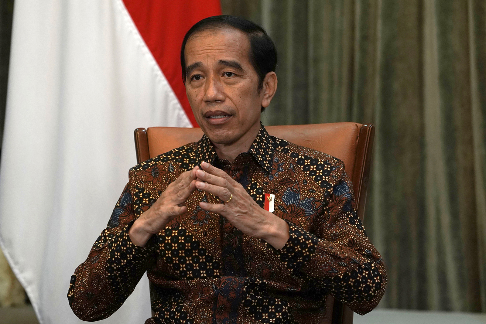 Joko Widodo, Indonesia's President, speaks during an interview at the Presidential Palace in Jakarta, Indonesia, on April 7.